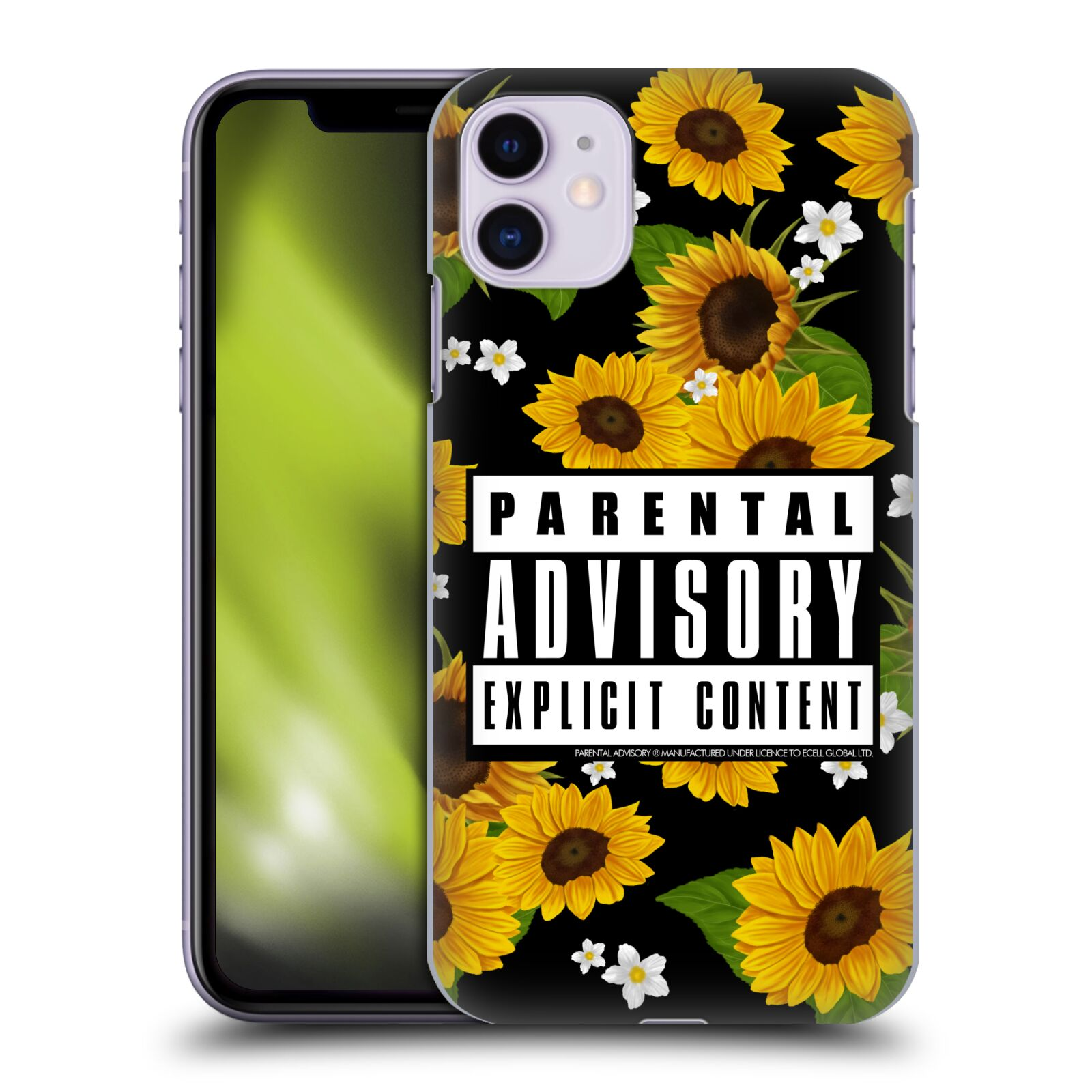 Official Parental Advisory Urban Street Style Sunflowers Case for Apple iPhone 11