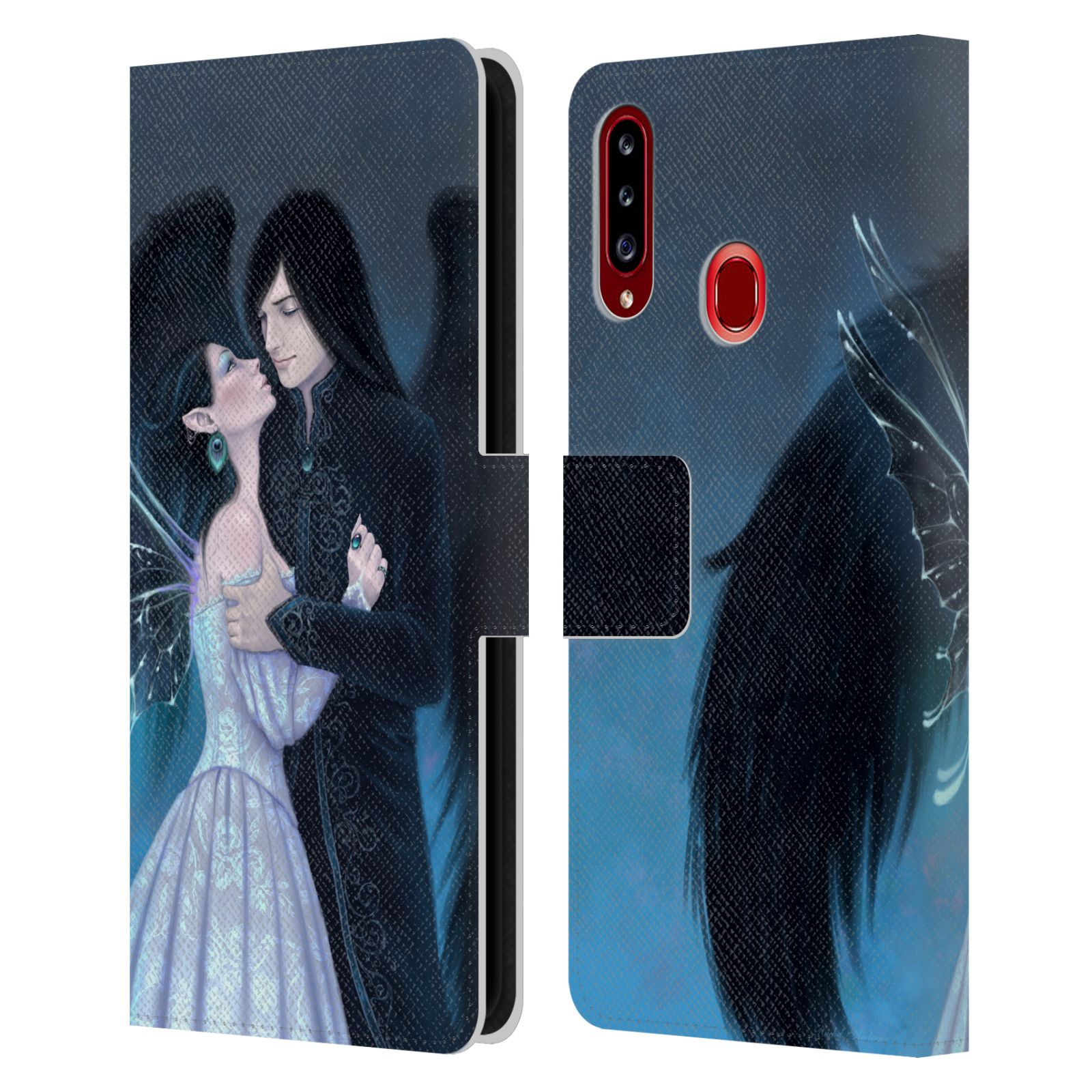 Official Rachel Anderson Romance Sapphire Leather Book Wallet Case For Samsung Galaxy A20s (2019)