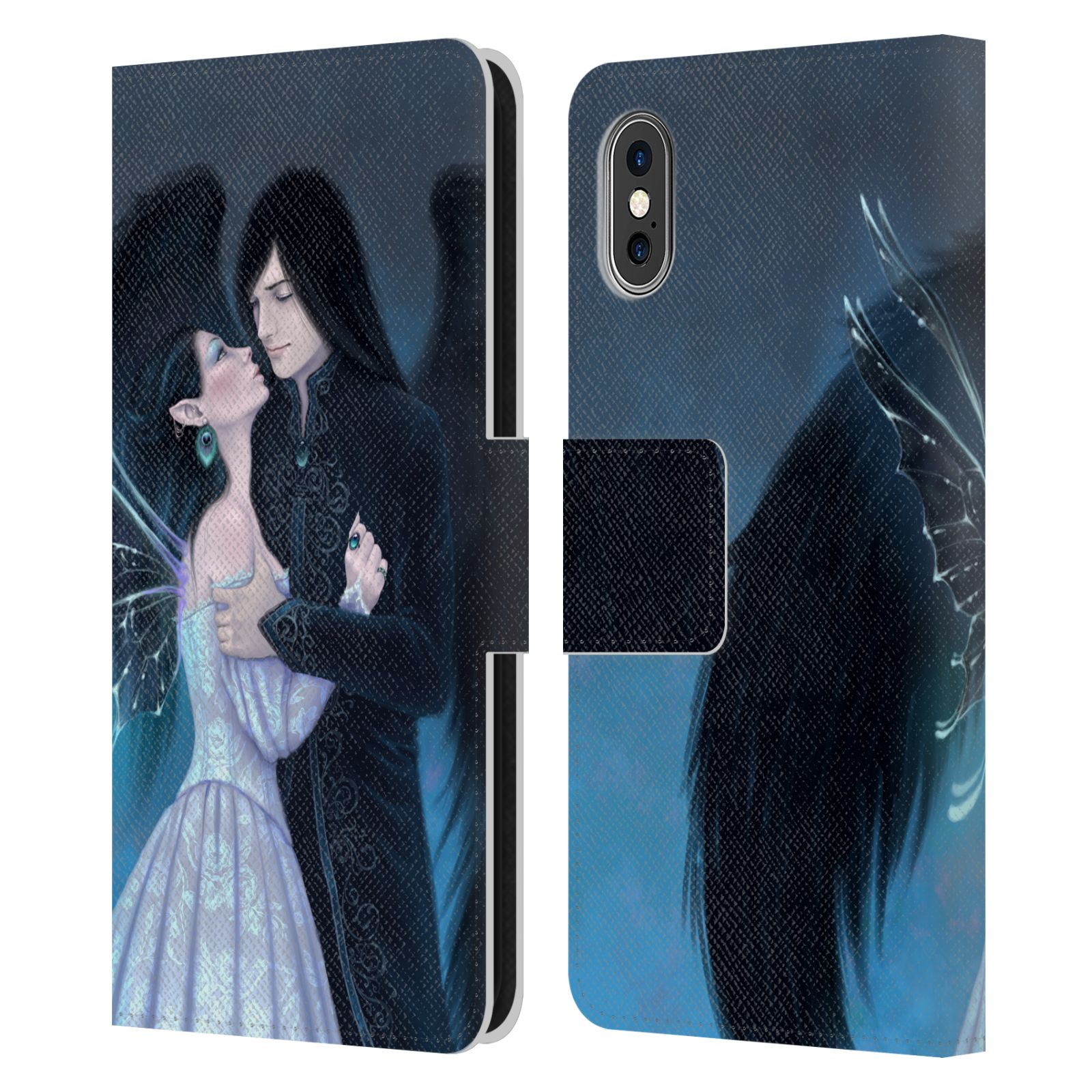 Official Rachel Anderson Romance Sapphire Leather Book Wallet Case For Apple iPhone X / iPhone XS