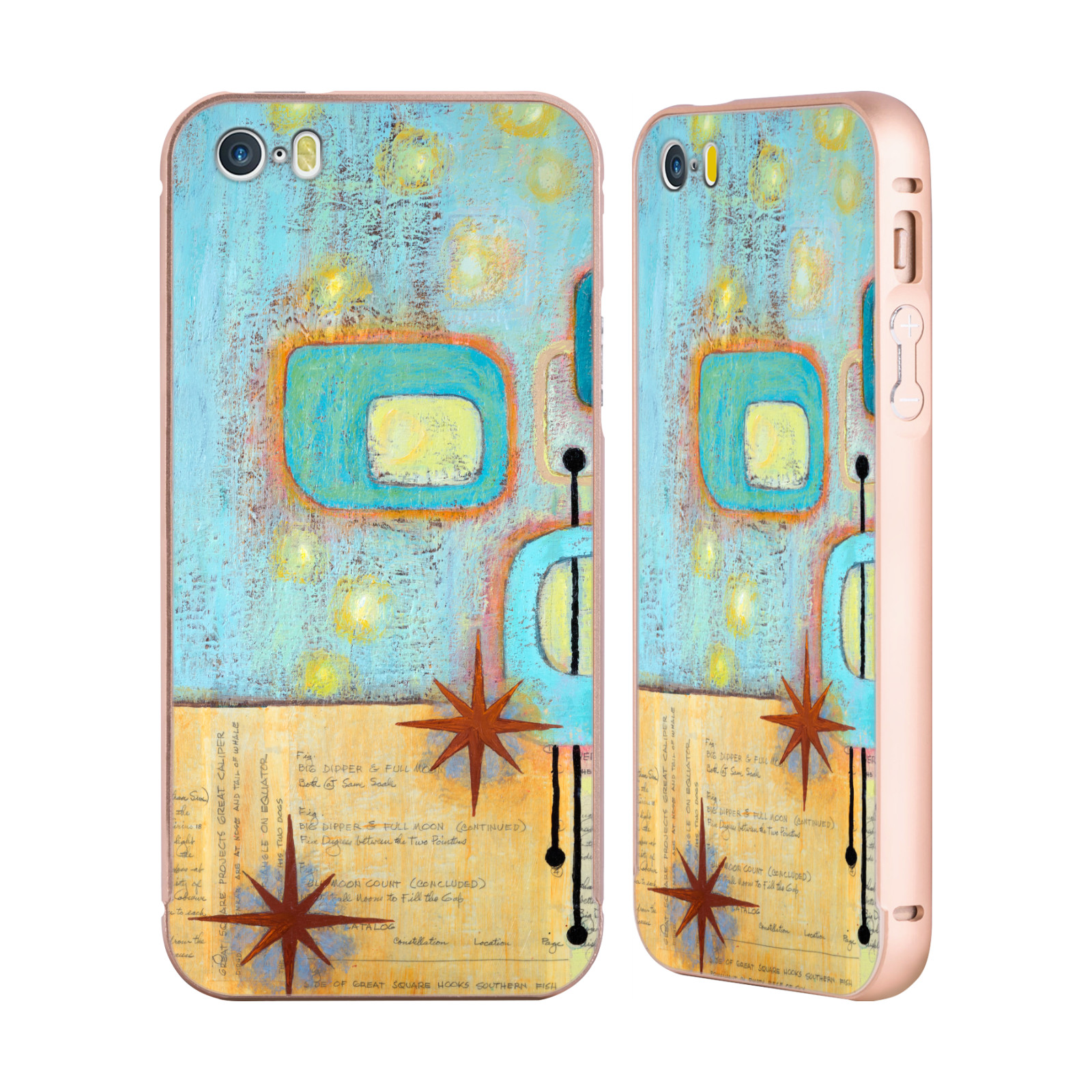 RACHEL-PAXTON-COLLAGE-PATTERN-ORO-COVER-CONTORNO-PER-APPLE-iPHONE-TELEFONI