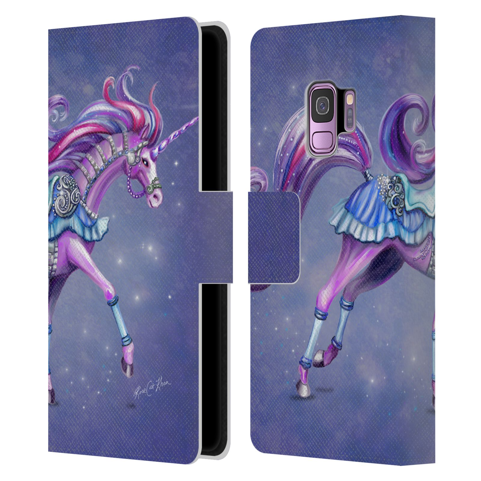 OFFICIAL-ROSE-KHAN-UNICORNS-LEATHER-BOOK-WALLET-CASE-COVER-FOR-SAMSUNG-PHONES-1