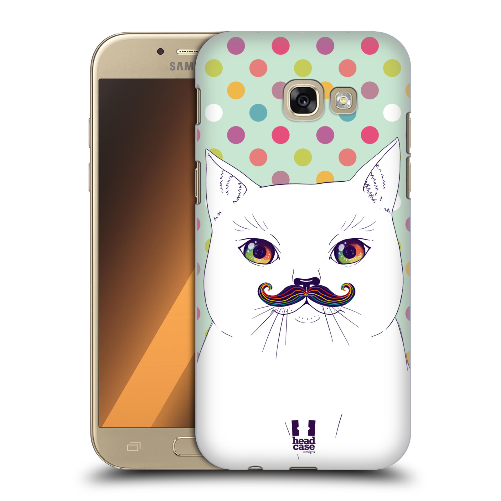 HEAD-CASE-DESIGNS-RAINBOW-MOUSTACHE-HARD-BACK-CASE-FOR-SAMSUNG-GALAXY-A5-2017