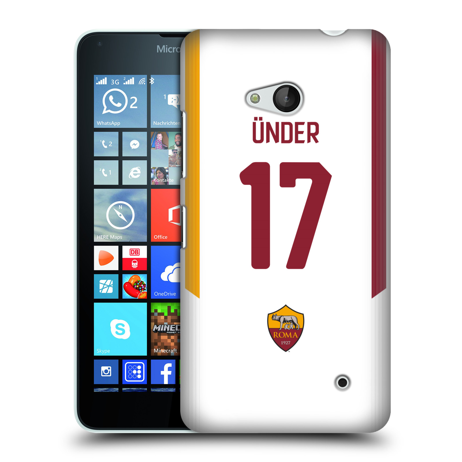 OFFICIAL-AS-ROMA-2017-18-PLAYERS-AWAY-KIT-GROUP-2-BACK-CASE-FOR-MICROSOFT-PHONES