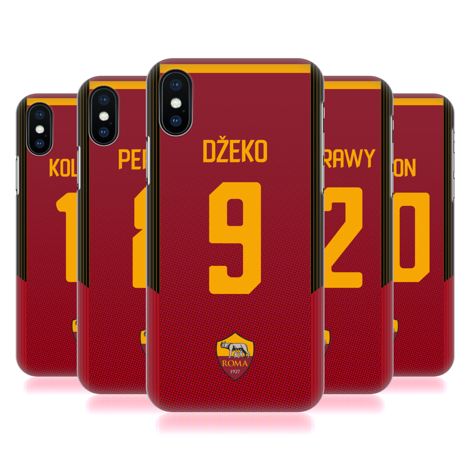 AS Roma 2017/18 Players Home Kit Group 1