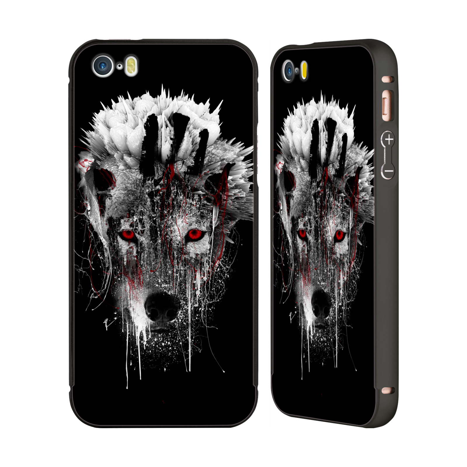 OFFICIAL-RIZA-PEKER-ANIMALS-3-BLACK-BUMPER-SLIDER-CASE-FOR-APPLE-iPHONE-PHONES