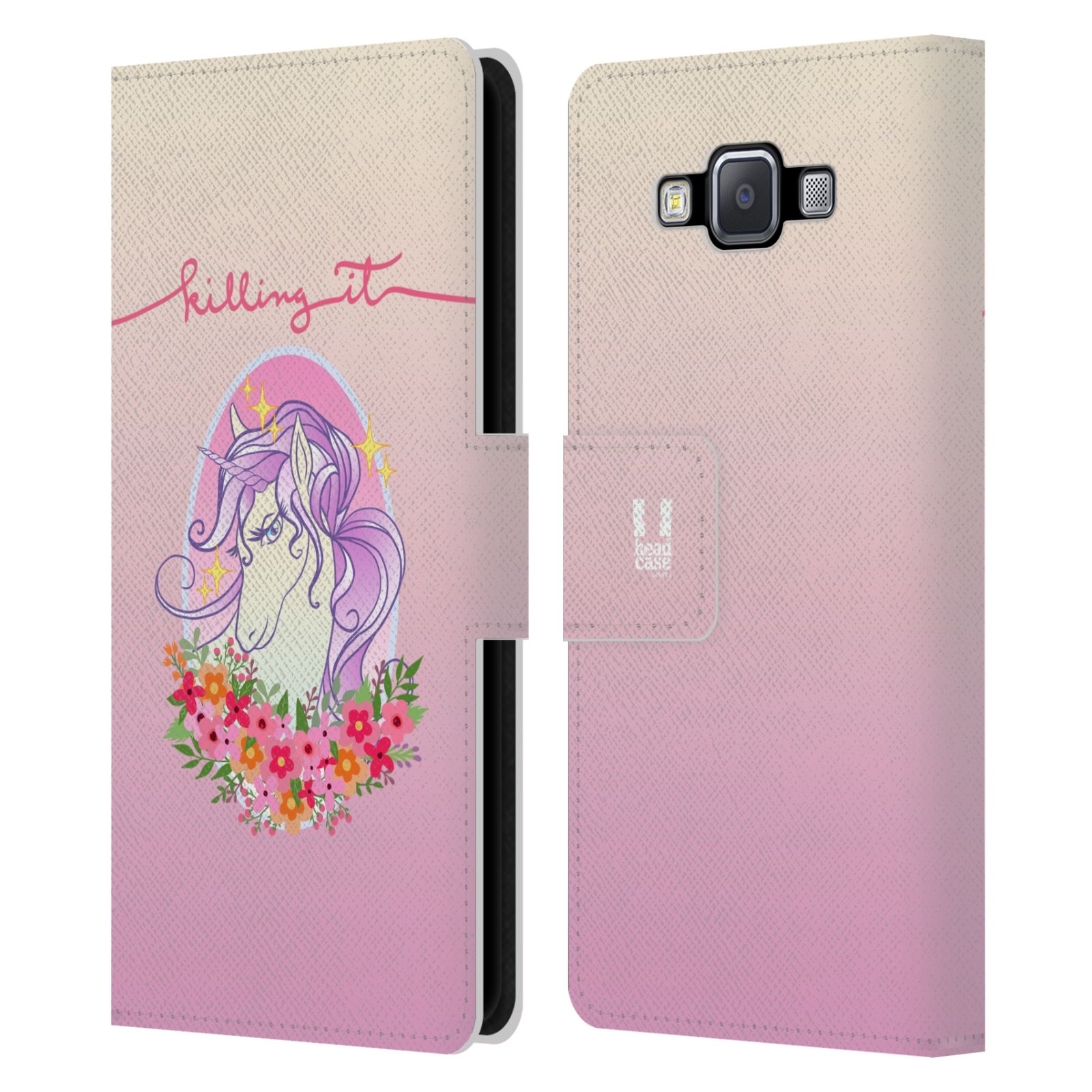 HEAD-CASE-DESIGNS-SASSY-UNICORNS-LEATHER-BOOK-WALLET-CASE-FOR-SAMSUNG-PHONES-2