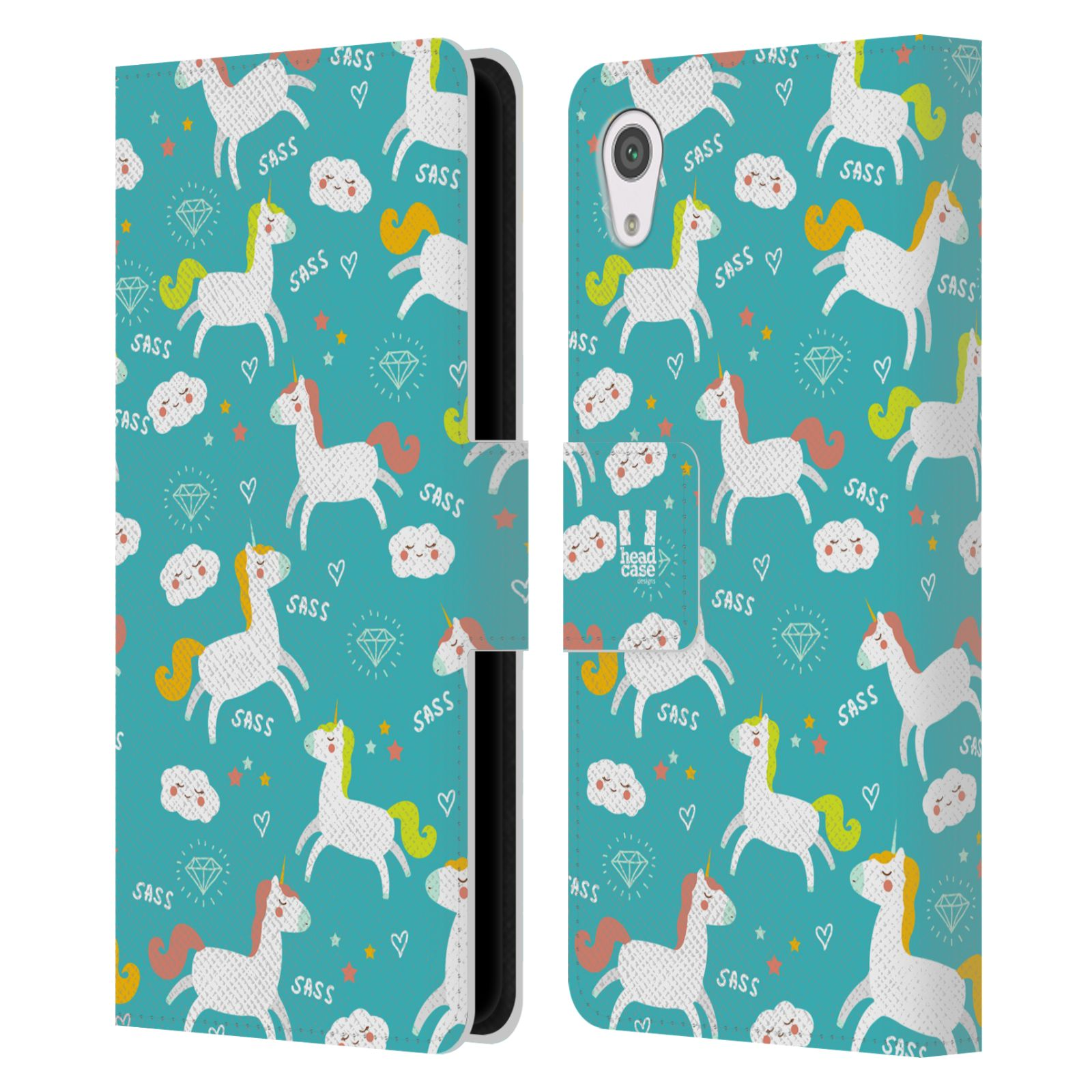 HEAD-CASE-DESIGNS-SASSY-UNICORNS-LEATHER-BOOK-WALLET-CASE-FOR-SONY-PHONES-1