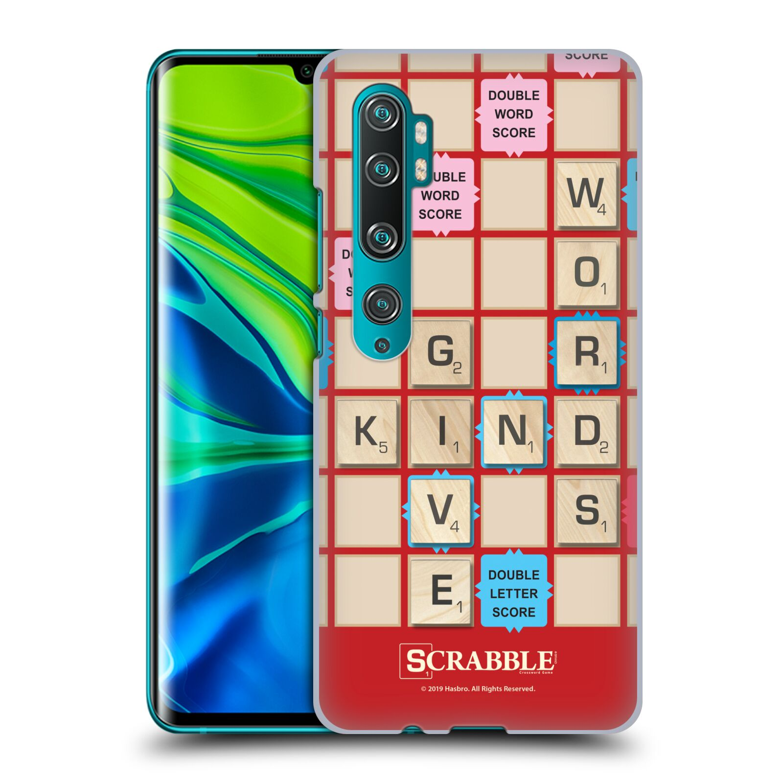 Official Scrabble Game Patterns Kind Words Case for Xiaomi Mi CC9 Pro / Mi Note 10 / Pro