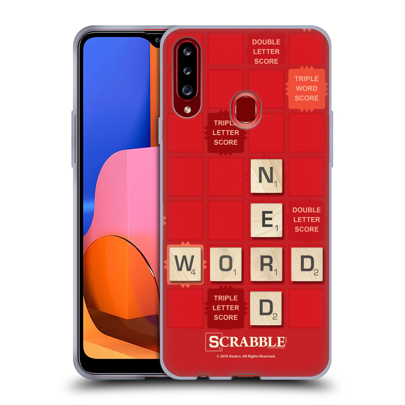 Official Scrabble Game Patterns Word Nerd Gel Case for Samsung Galaxy A20s (2019)