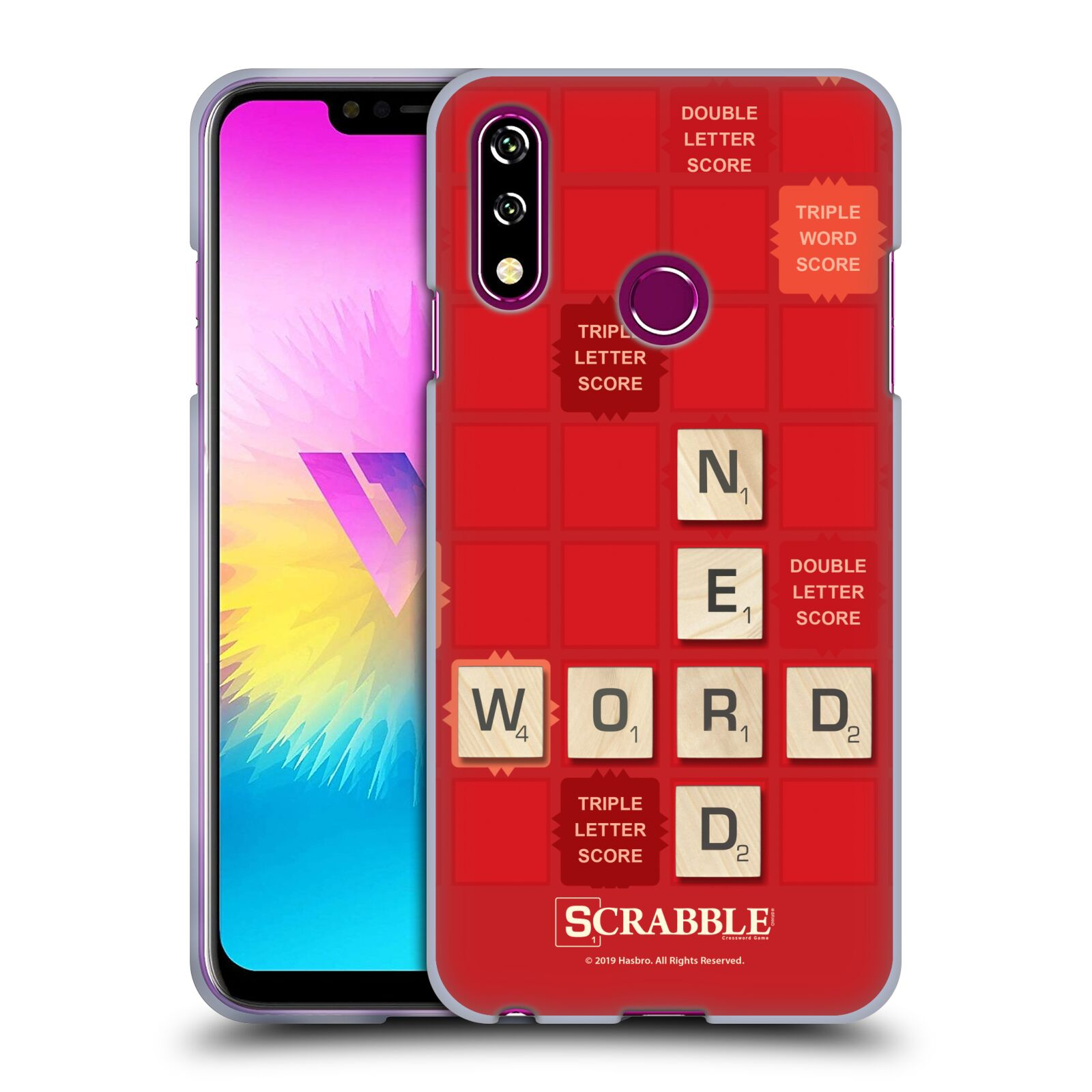 Official Scrabble Game Patterns Word Nerd Gel Case for LG W10