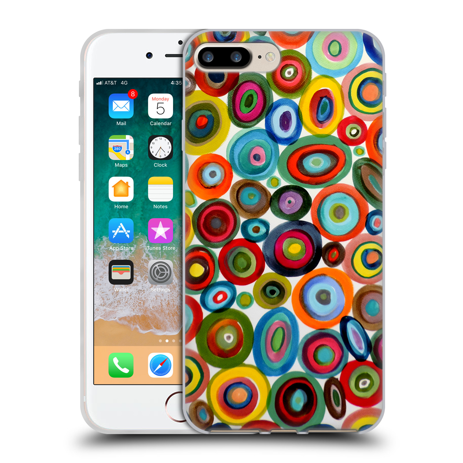 Official Sylvie Demers Abstraction Club Soda Gel Case for Apple iPhone 7 Plus / iPhone 8 Plus