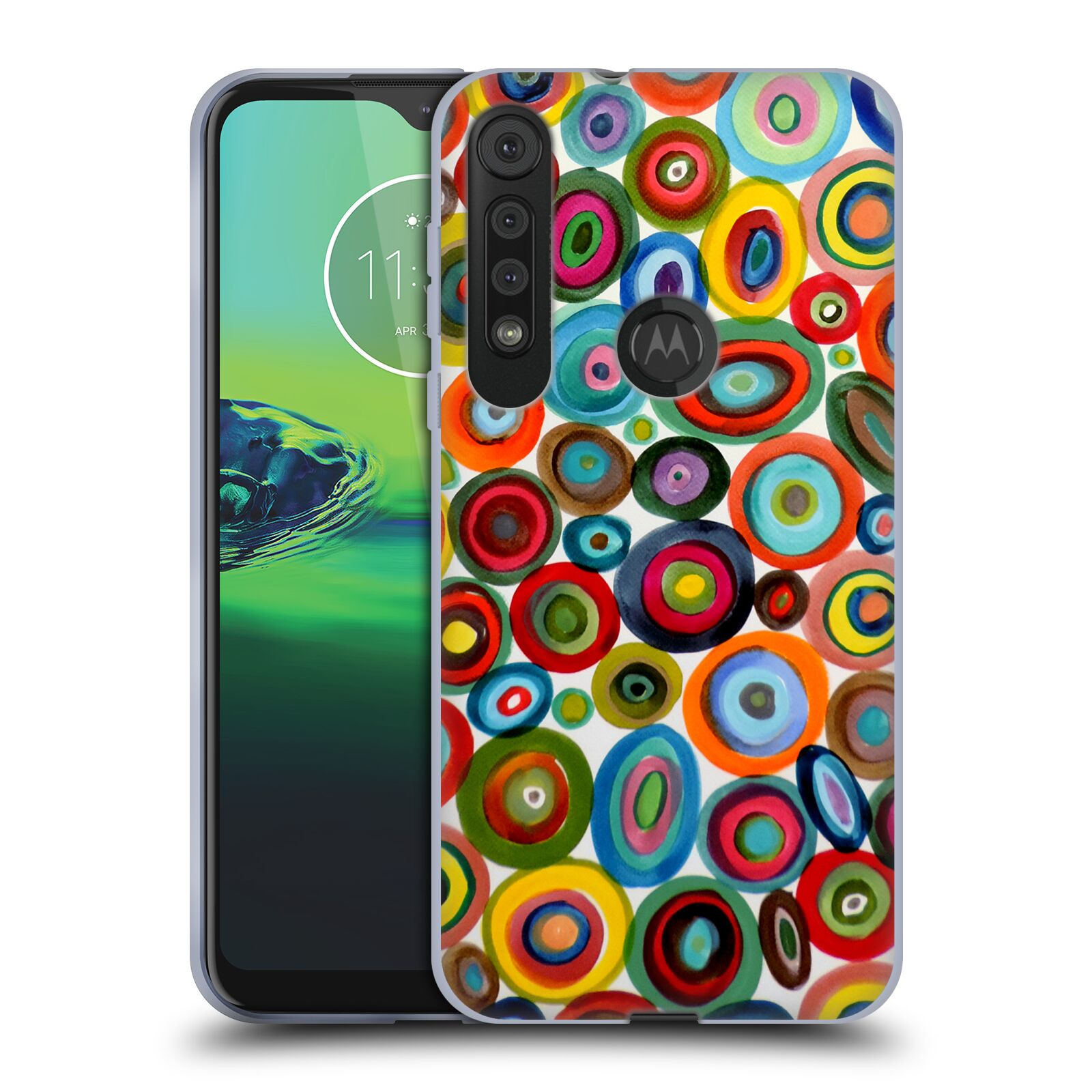 Official Sylvie Demers Abstraction Club Soda Gel Case for Motorola One Macro / Moto G8 Play