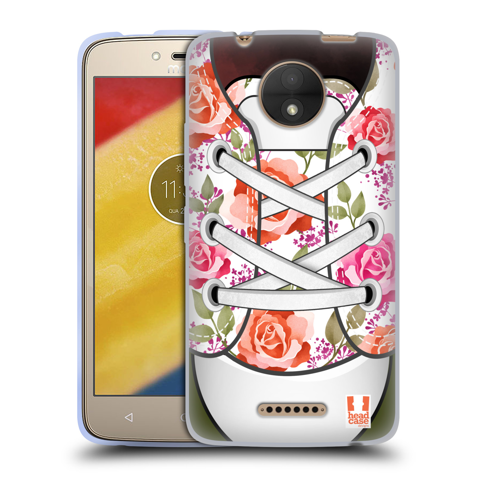 Funda HEAD CASE DESIGNS de la colección de arte del Zapato Gel Suave Carcasa Para Motorola Moto C
