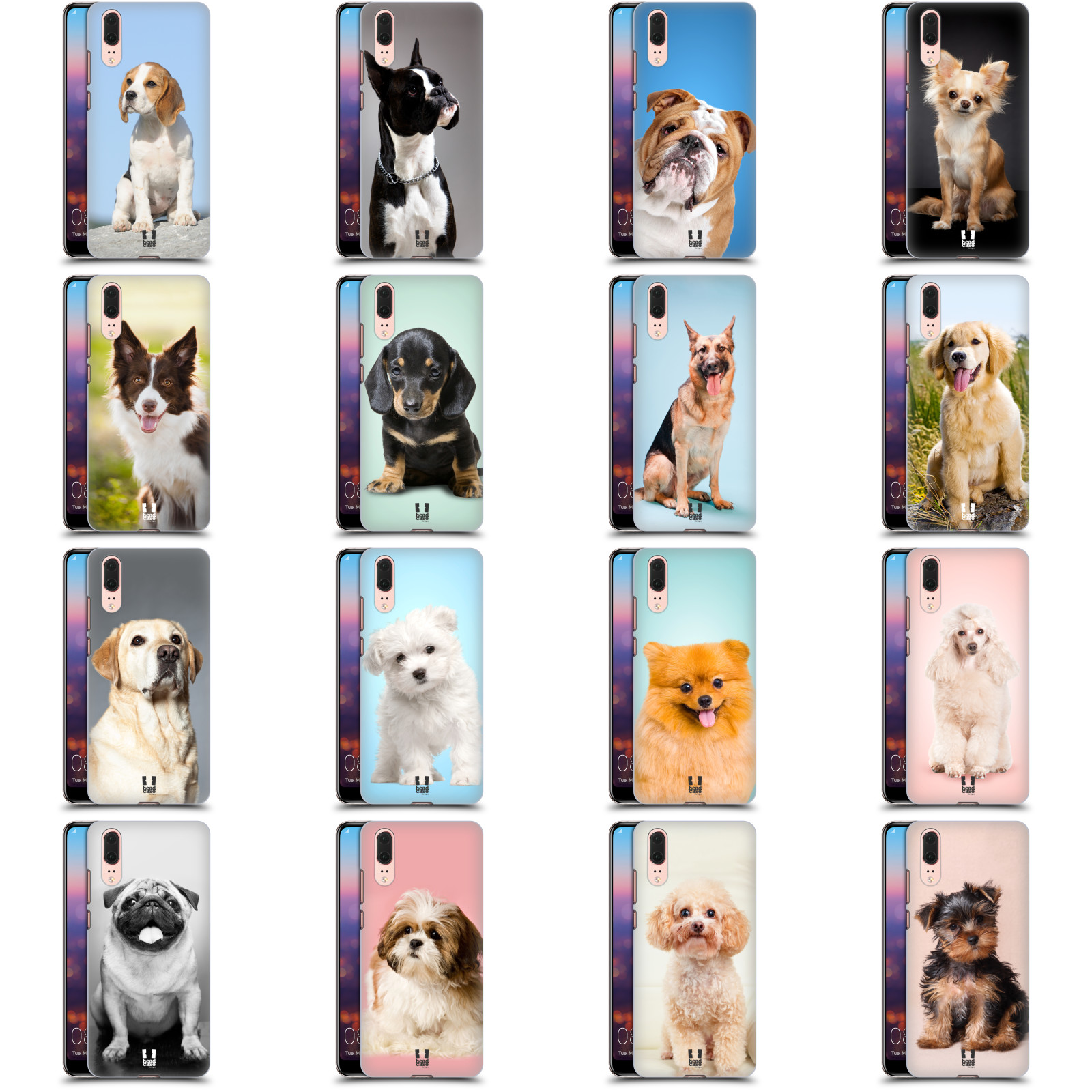 Head Case Designs Beagle Dog Breed Patterns Soft Gel Case Compatible for Huawei P30 Pro