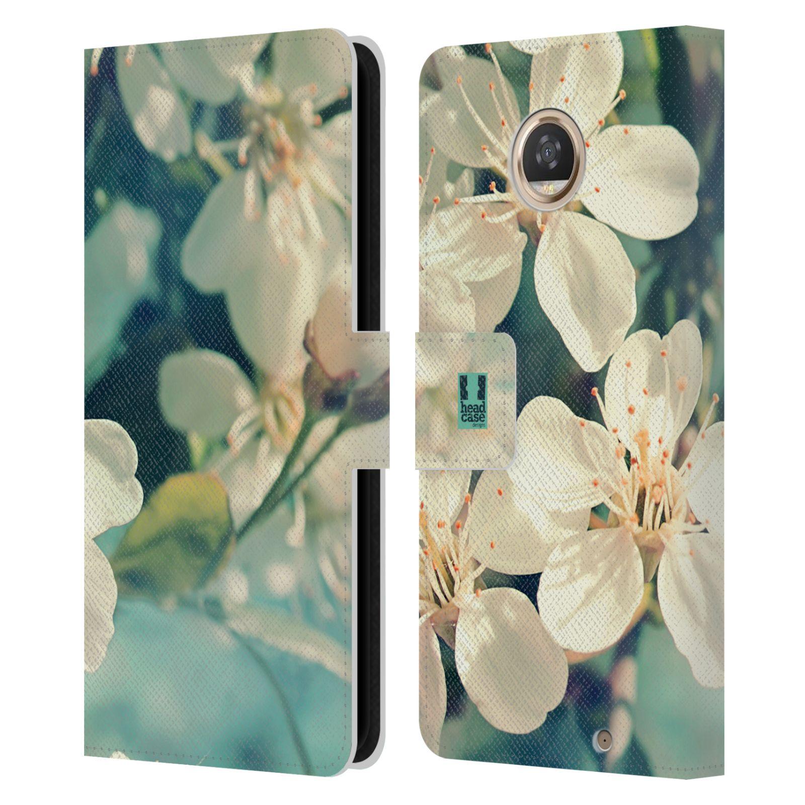 COVER-HEAD-CASE-DESIGNS-Fiori-Libro-in-Pelle-Portafoglio-Custodia-Cover-per-cellulari-Motorola