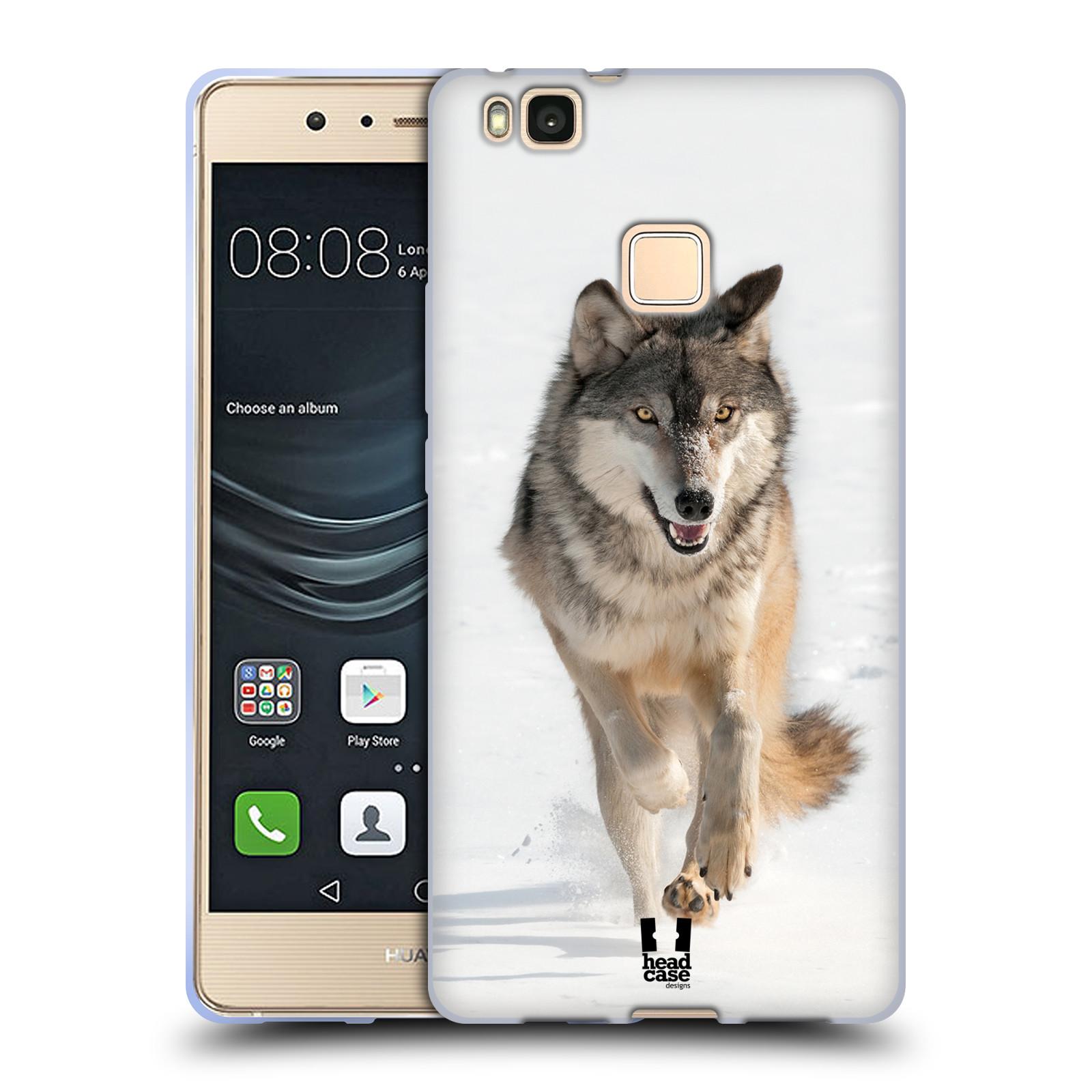 Silikonové pouzdro na mobil Huawei P9 Lite - Head Case - DIVOČINA – VLK (Silikonový kryt či obal na mobilní telefon Huawei P9 Lite z roku 2016 s motivem DIVOČINA – VLK)