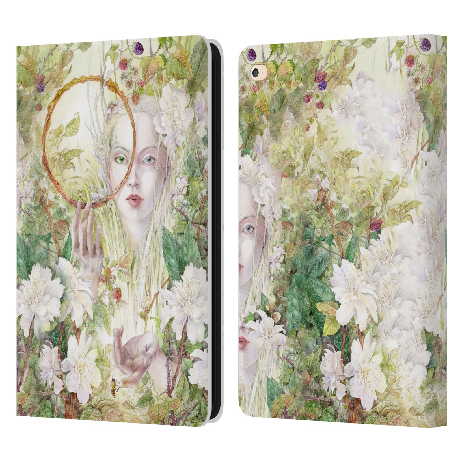 OFICIAL-STEPHANIE-LAW-FAERIES-CASO-LIBRO-MONEDERO-DE-CUERO-PARA-APPLE-iPAD