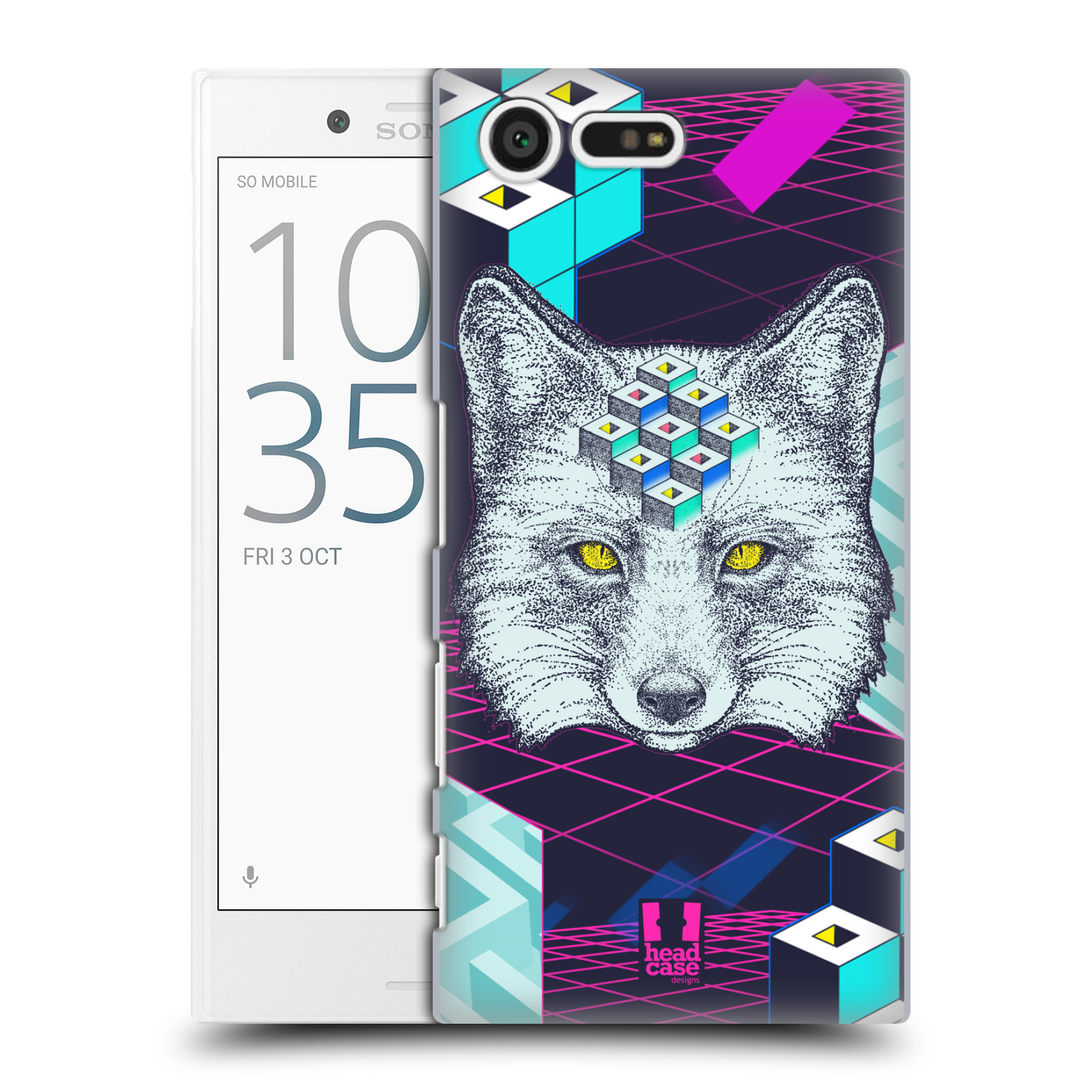 HEAD-CASE-DESIGNS-STIPPLE-ART-2-HARD-BACK-CASE-FOR-SONY-XPERIA-X-COMPACT