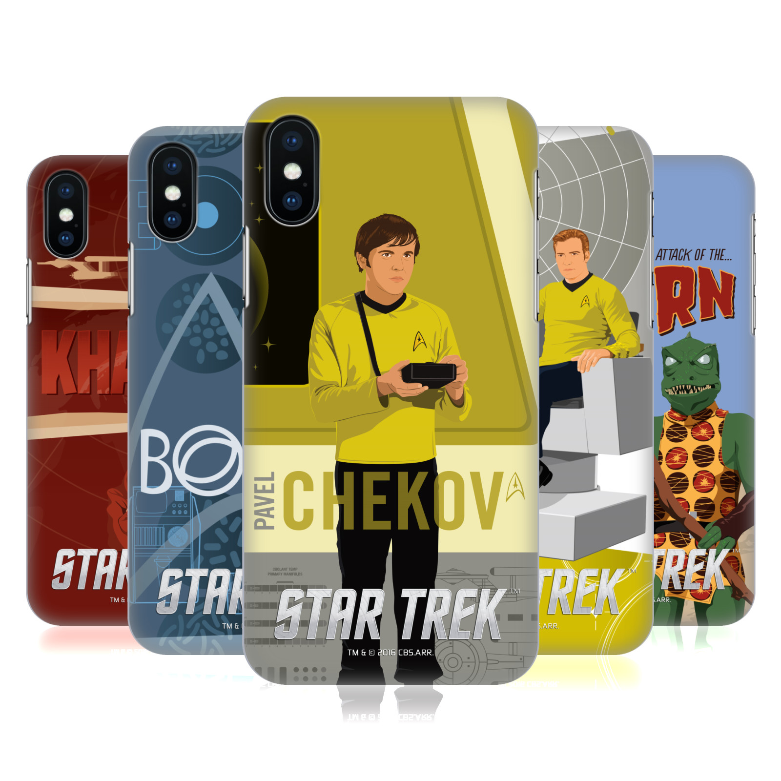 Star Trek Embossed Iconic Characters TOS