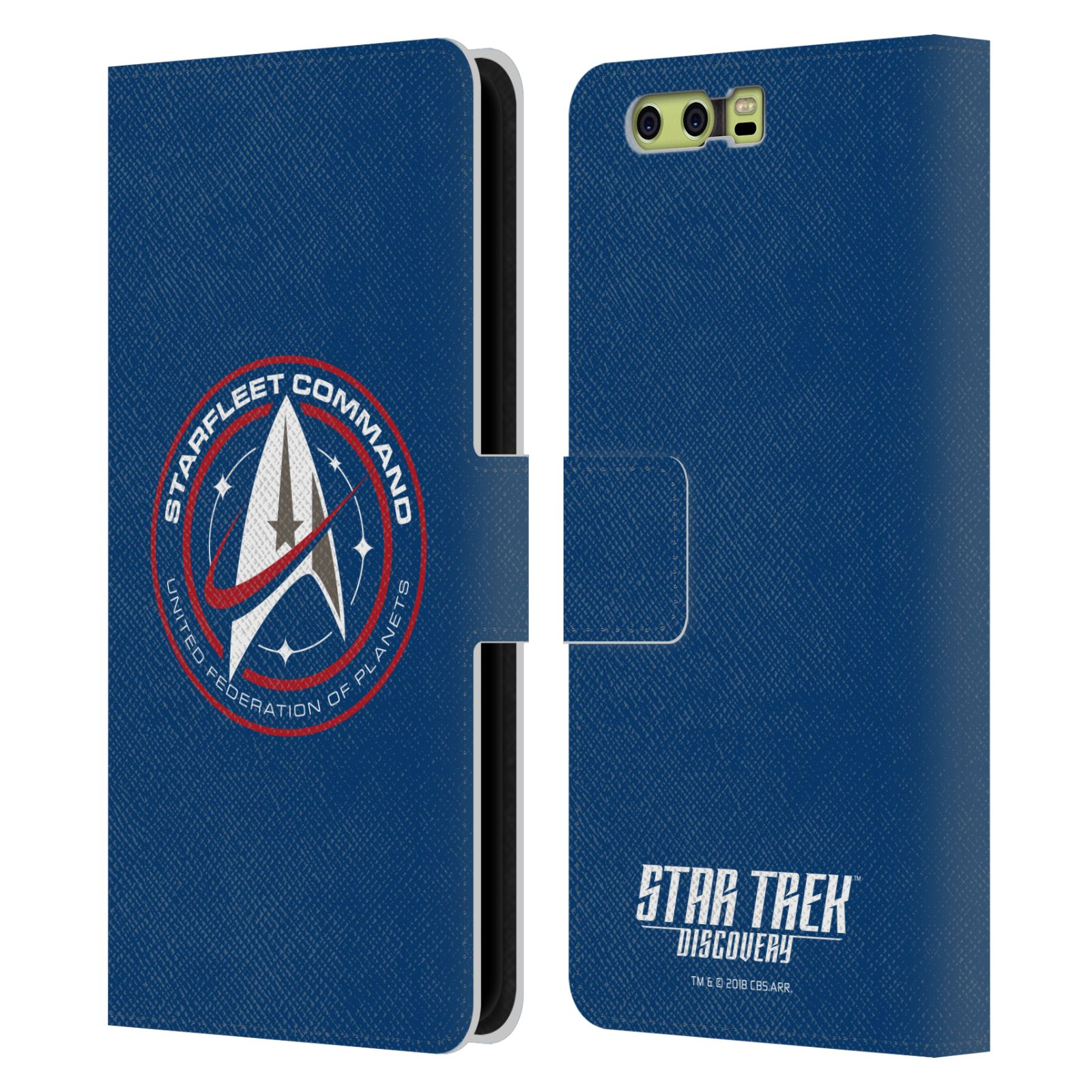 OFFICIAL-STAR-TREK-DISCOVERY-BADGES-LEATHER-BOOK-WALLET-CASE-FOR-HUAWEI-PHONES