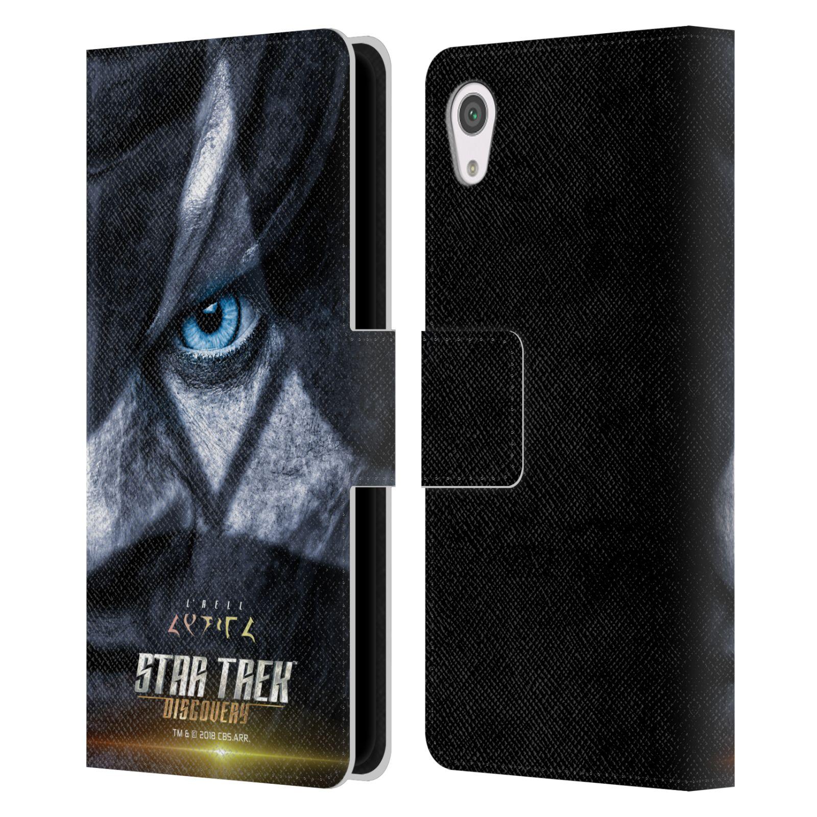 STAR-TREK-DISCOVERY-carteles-de-Cuero-Funda-cartera-libro-de-caracteres-para-telefonos-SONY-1