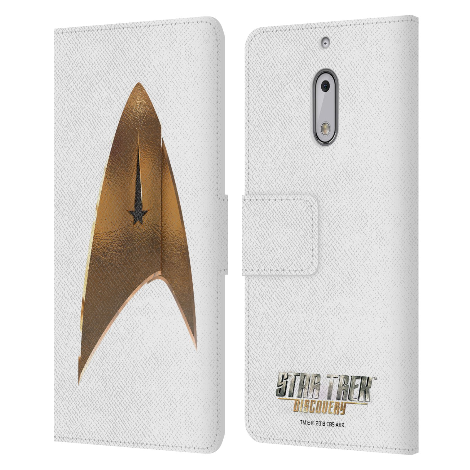 OFFICIAL-STAR-TREK-DISCOVERY-LOGO-LEATHER-BOOK-CASE-FOR-MICROSOFT-NOKIA-PHONES