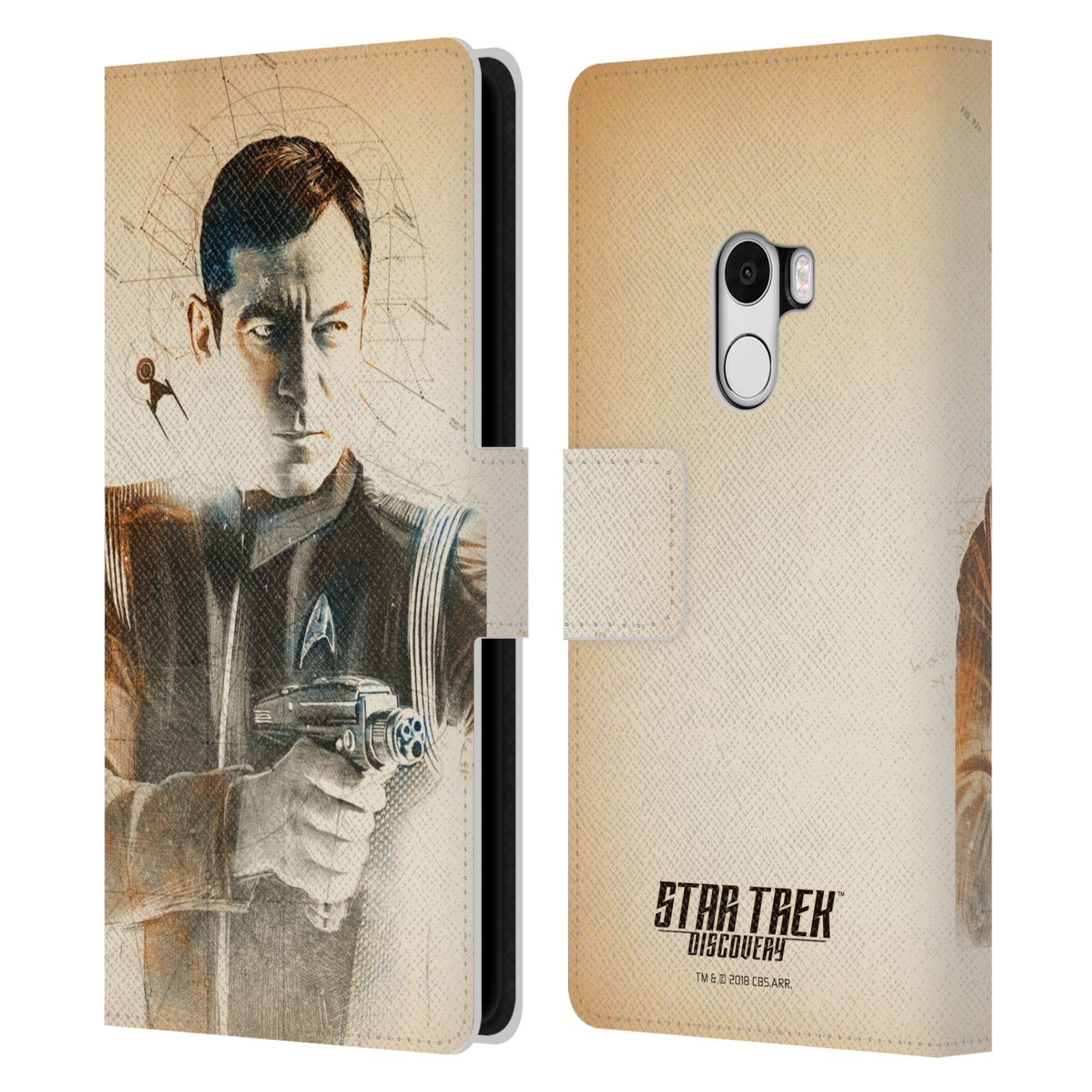 STAR-TREK-DISCOVERY-GRUNGE-CHARACTERS-LEATHER-BOOK-WALLET-CASE-FOR-XIAOMI-PHONES