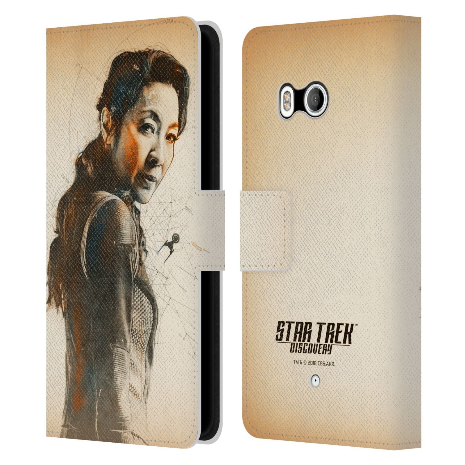 STAR-TREK-DISCOVERY-GRUNGE-PERSONNAGES-ETUI-COQUE-EN-CUIR-POUR-HTC-TELEPHONES-1