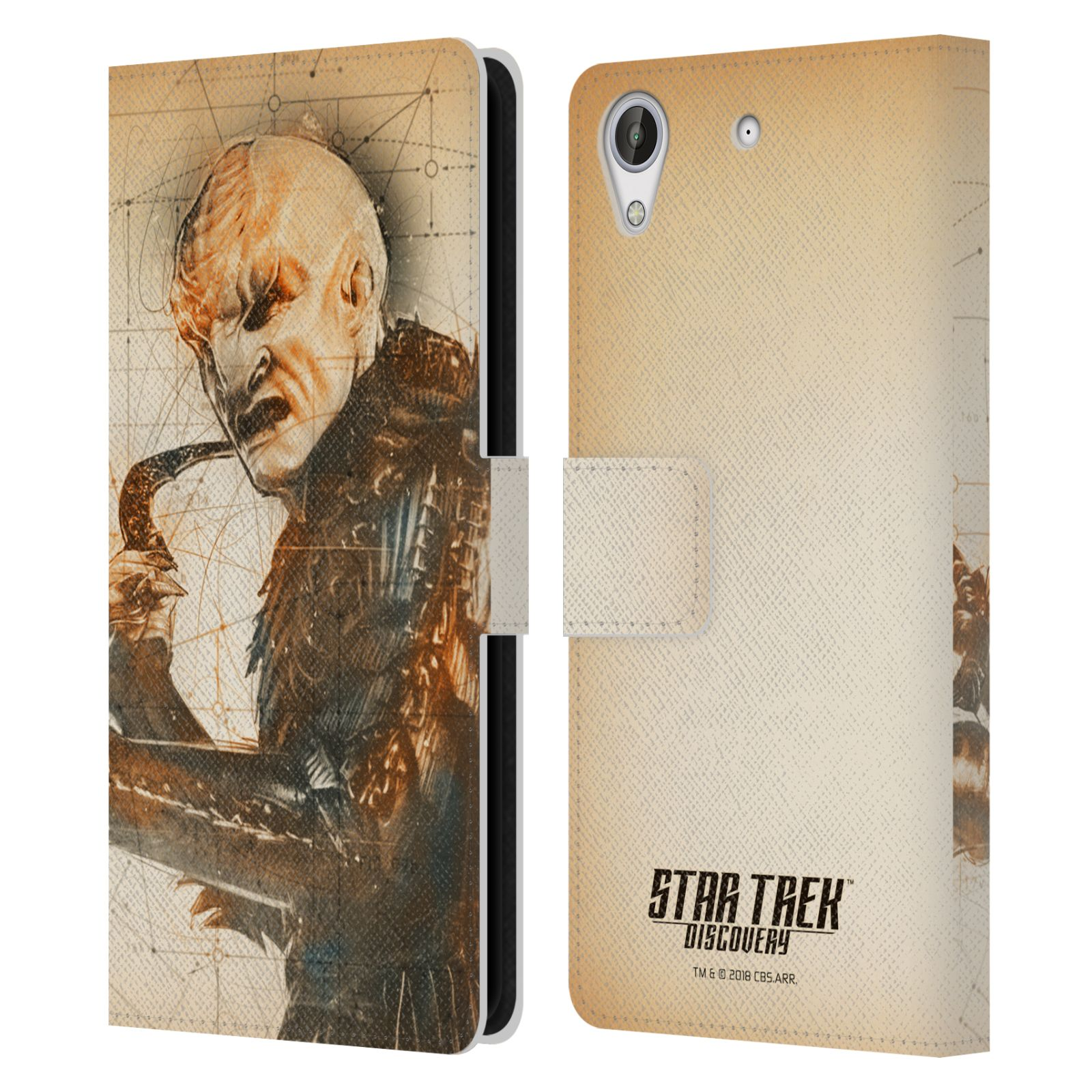 STAR-TREK-DISCOVERY-GRUNGE-CHARACTERS-LEATHER-BOOK-WALLET-CASE-FOR-HTC-PHONES-2
