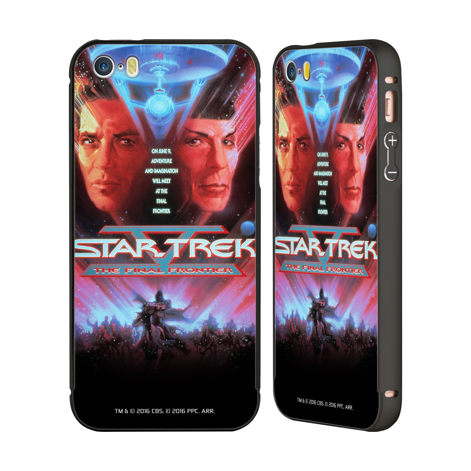 OFFICIAL-STAR-TREK-MOVIE-POSTERS-TOS-BLACK-SLIDER-CASE-FOR-APPLE-iPHONE-PHONES