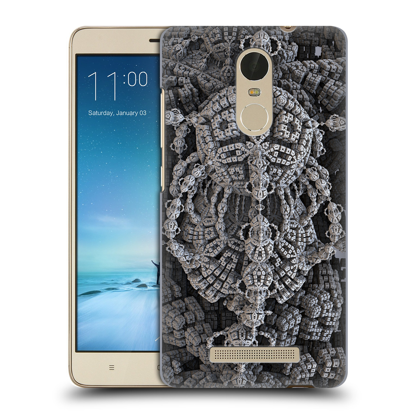 OFFICIAL-SVEN-FAUTH-FRACTALS-2-HARD-BACK-CASE-FOR-XIAOMI-PHONES