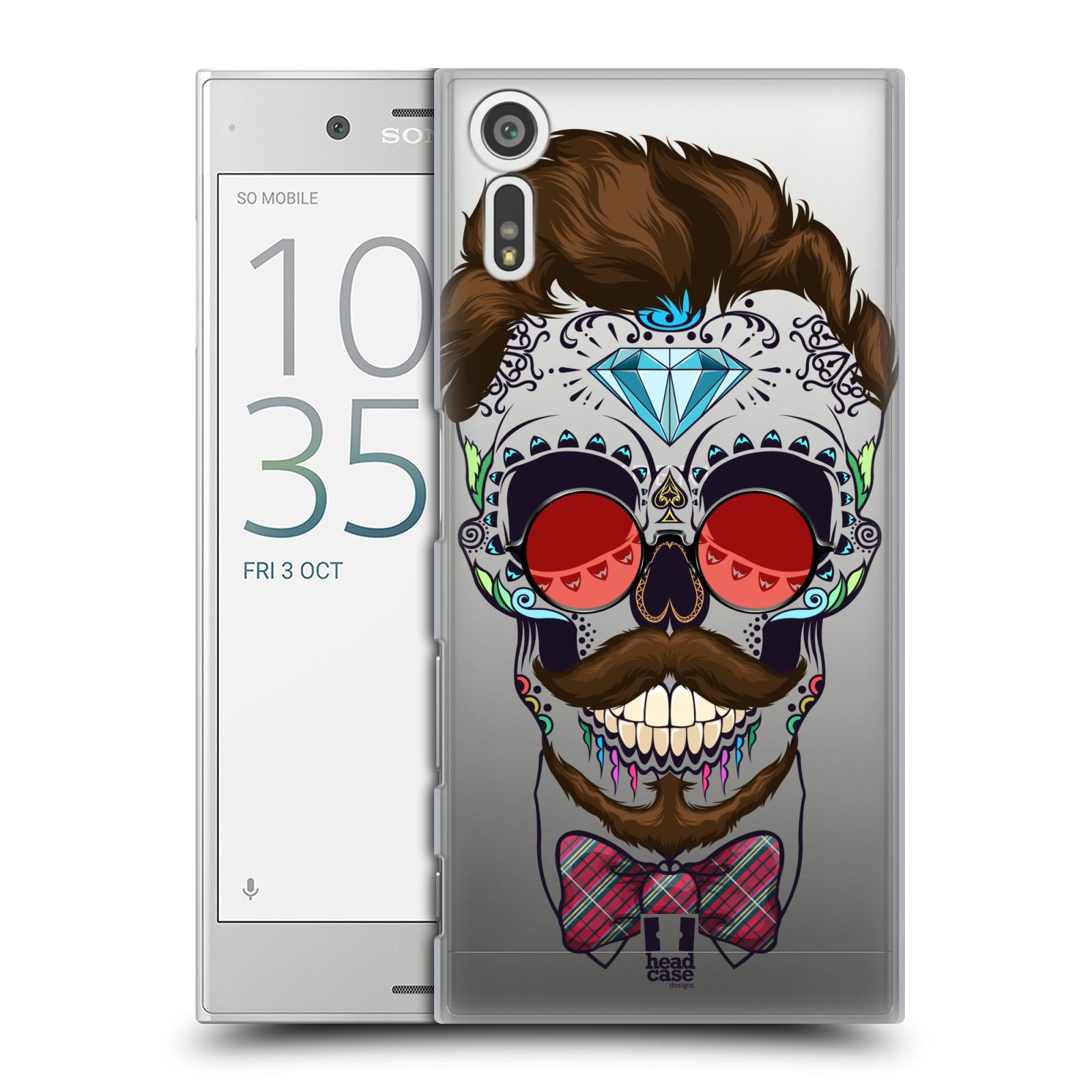 Plastové pouzdro na mobil Sony Xperia XZ - Head Case - Lebka hipstra (Plastový kryt či obal na mobilní telefon s motivem Lebka hipstra pro Sony Xperia XZ F8331 / Sony Xperia XZ Dual F8332)