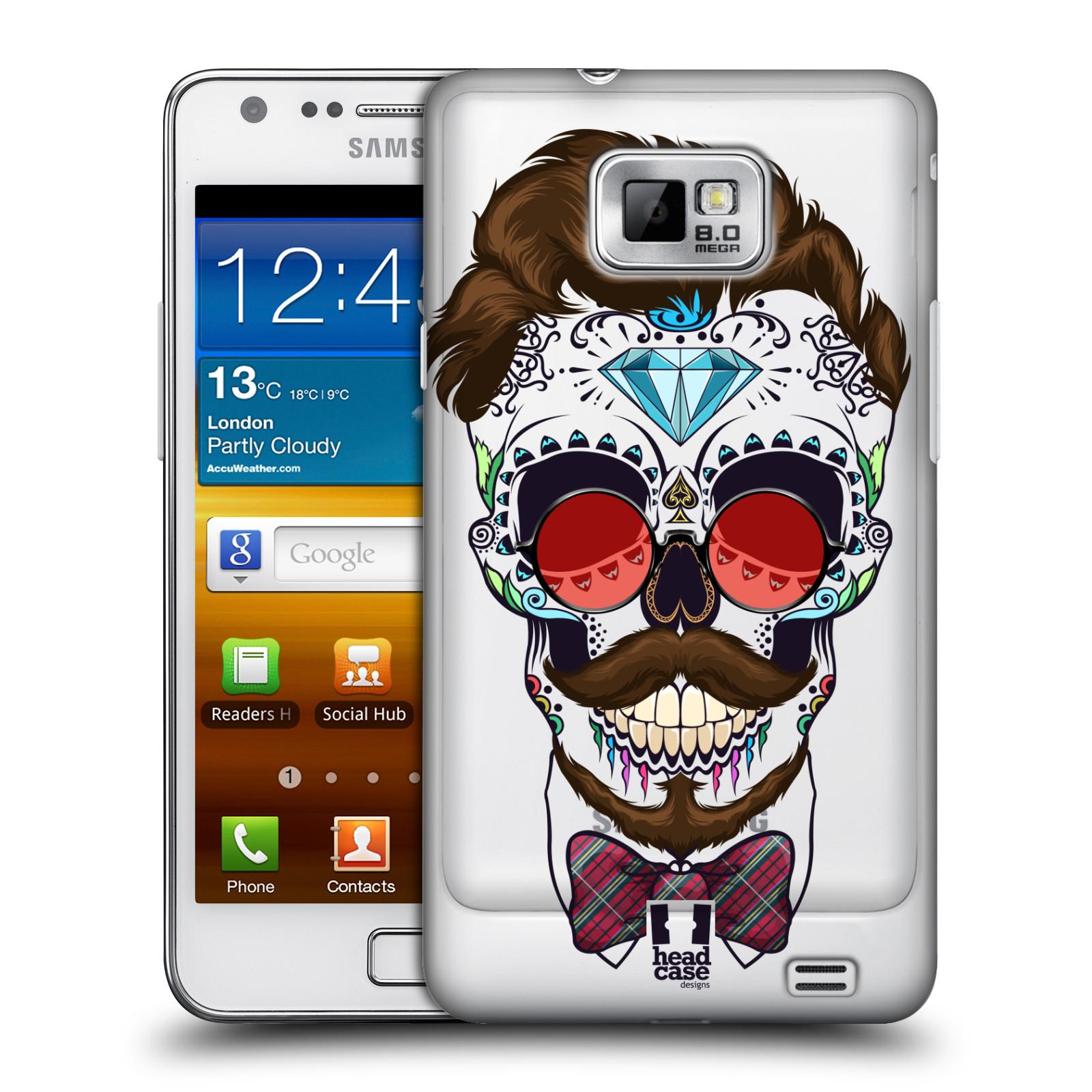 Plastové pouzdro na mobil Samsung Galaxy S II - Head Case - Lebka hipstra
