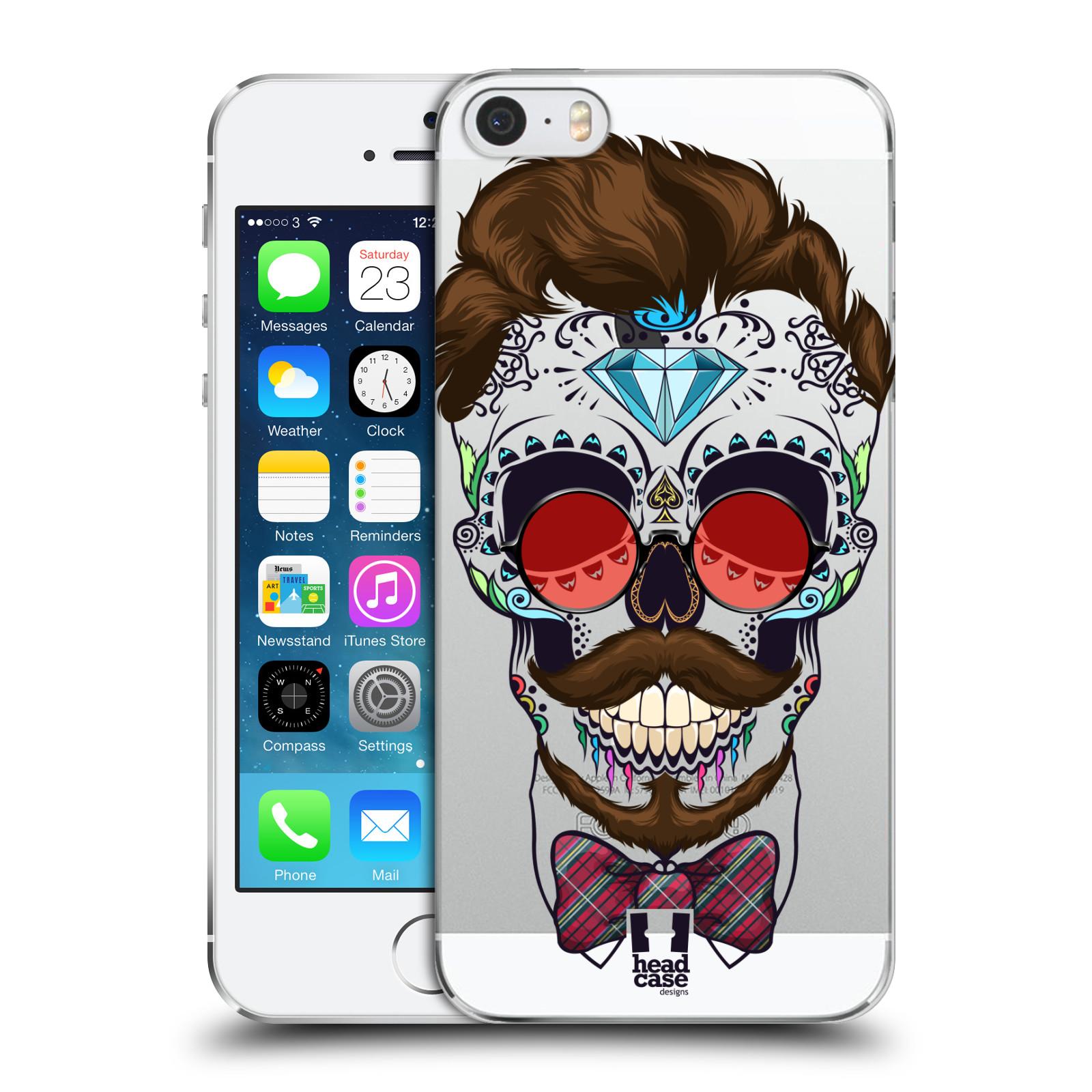 Plastové pouzdro na mobil Apple iPhone SE, 5 a 5S - Head Case - Lebka hipstra