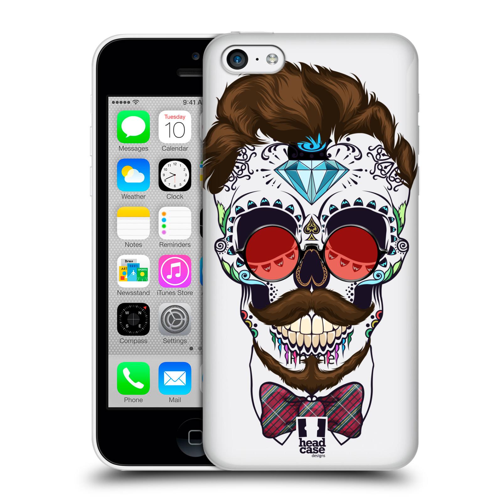 Plastové pouzdro na mobil Apple iPhone 5C - Head Case - Lebka hipstra