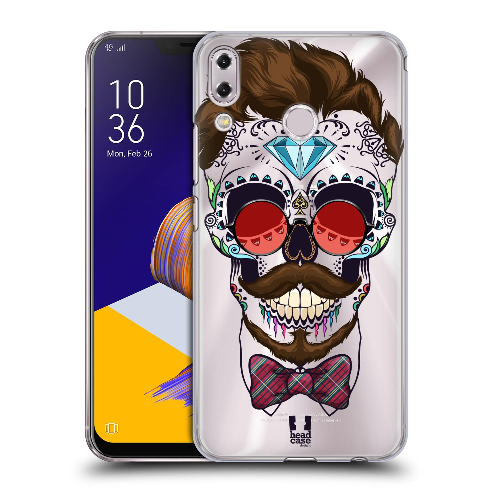 Plastové pouzdro na mobil Asus Zenfone 5z ZS620KL - Head Case - Lebka hipstra (Plastový kryt či obal na mobilní telefon Asus Zenfone 5z (ZS620KL) s motivem Lebka hipstra)