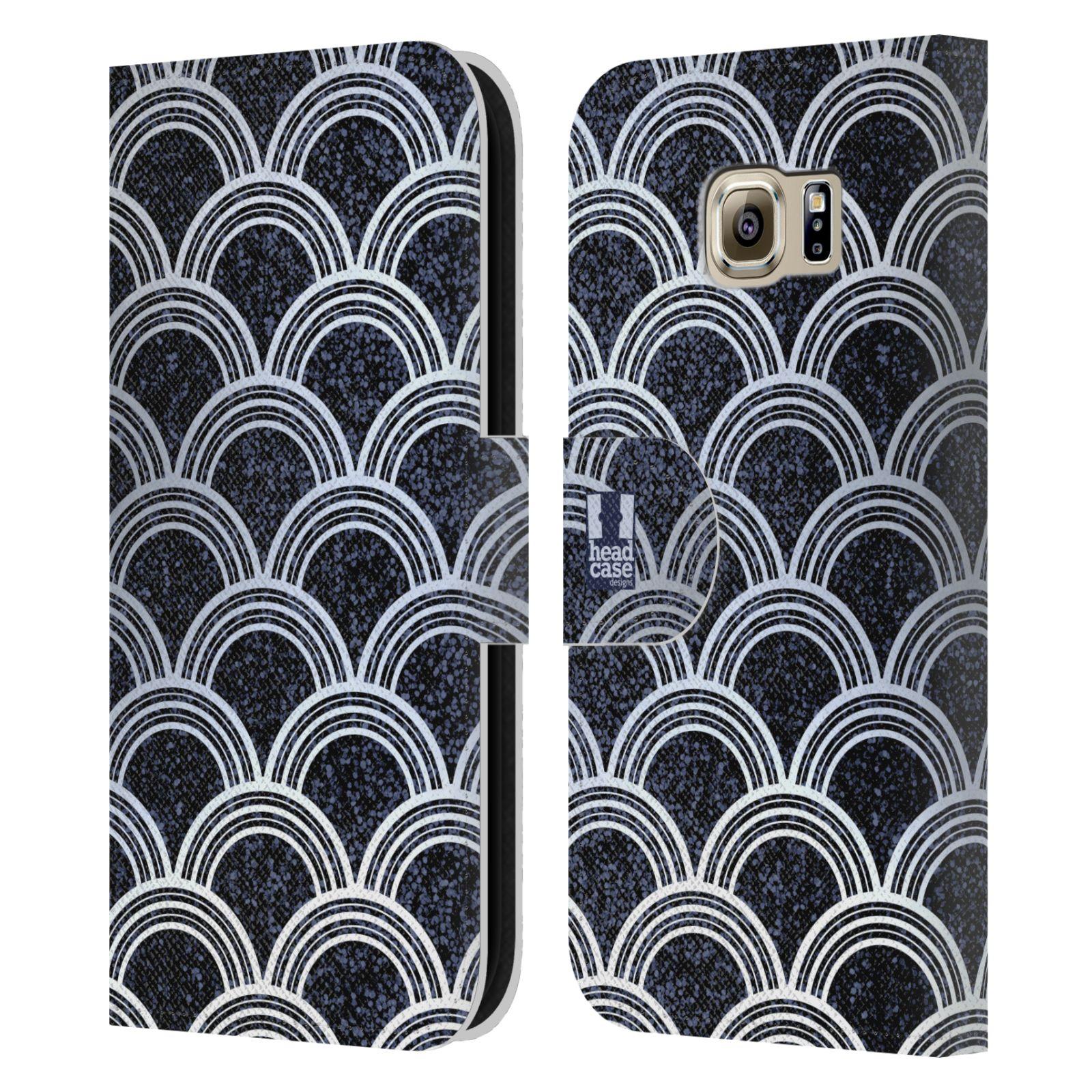 head case designs texture art deco muster brieftasche h lle f r samsung handys 1 ebay. Black Bedroom Furniture Sets. Home Design Ideas