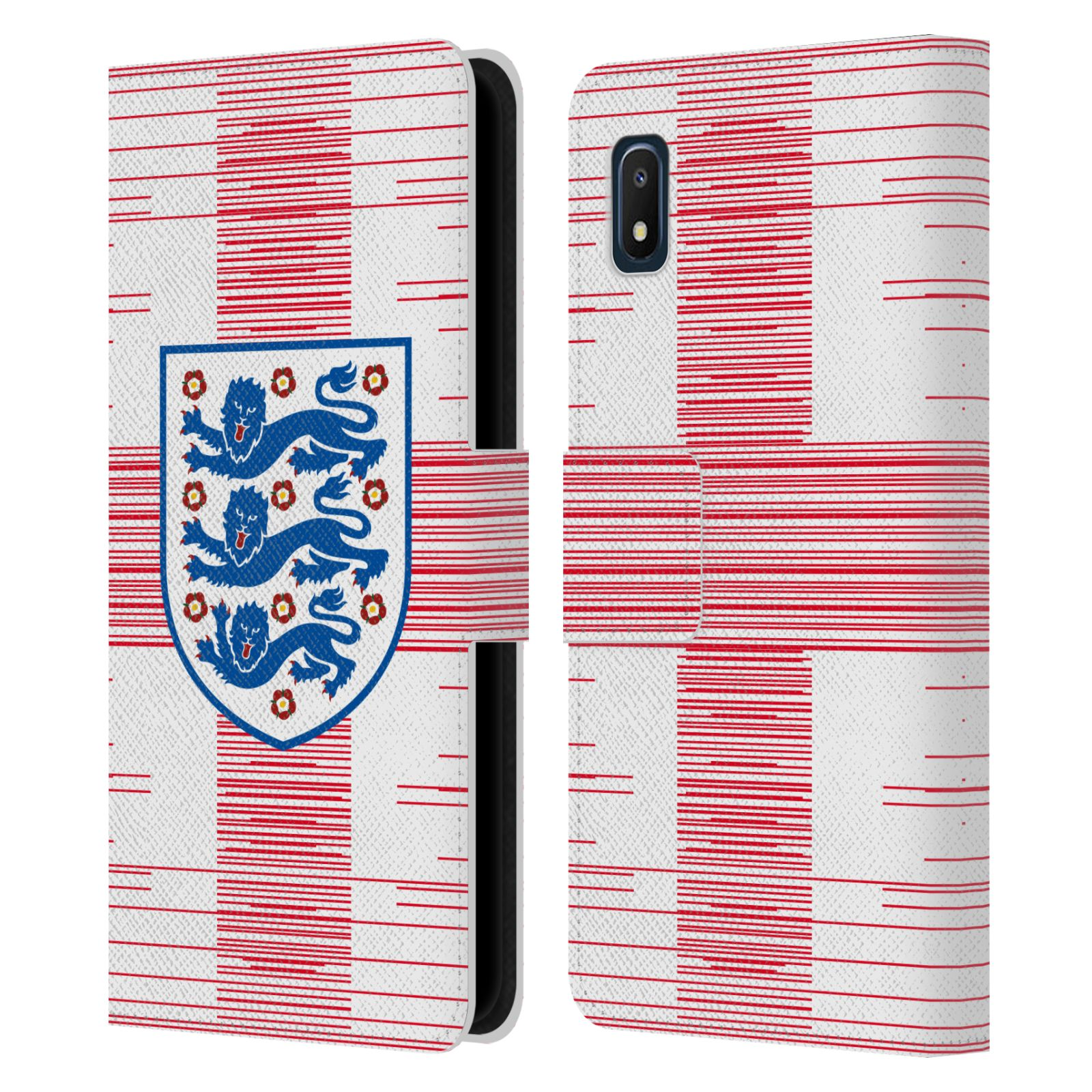 Official England National Football Team 2018/19 Crest Flag 2 Leather Book Wallet Case For Samsung Galaxy A10e (2019)