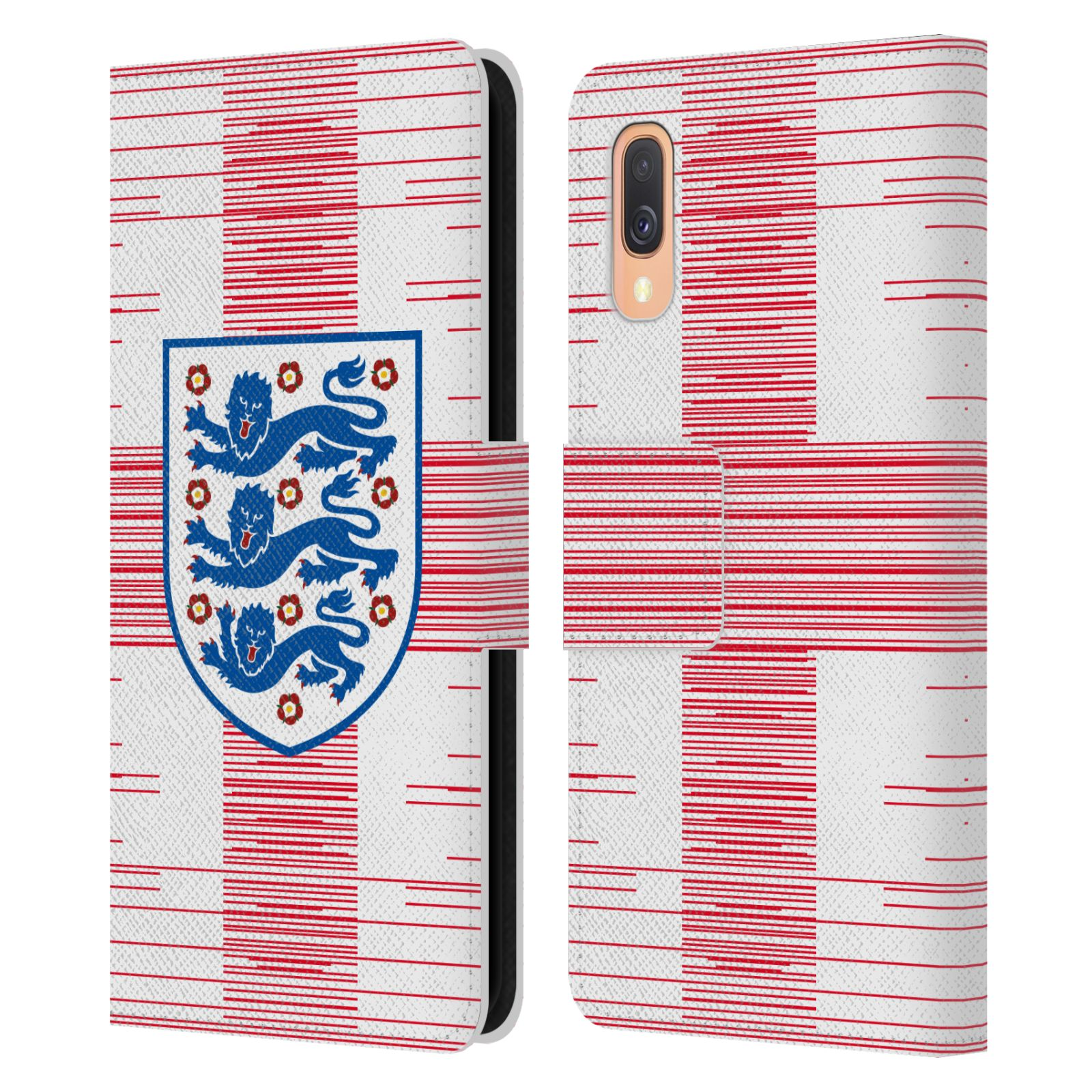 Official England National Football Team 2018/19 Crest Flag 2 Leather Book Wallet Case For Samsung Galaxy A40 (2019)