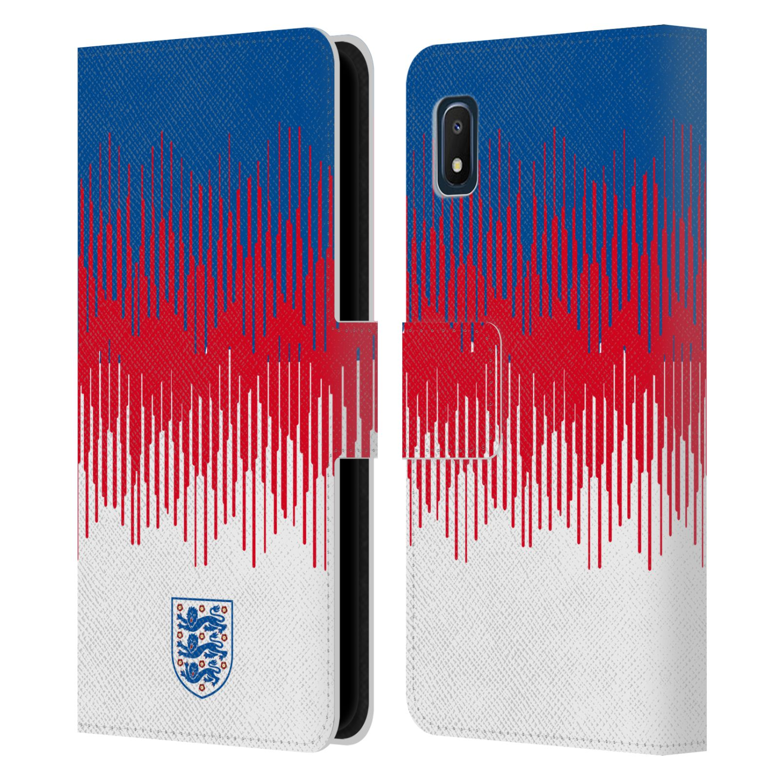 Official England National Football Team 2018/19 Crest Pattern Leather Book Wallet Case For Samsung Galaxy A10e (2019)