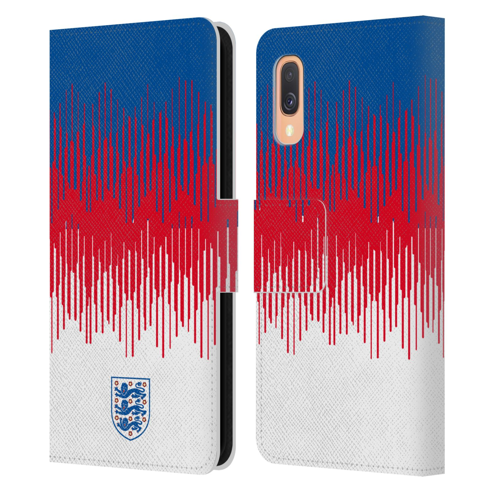 Official England National Football Team 2018/19 Crest Pattern Leather Book Wallet Case For Samsung Galaxy A40 (2019)
