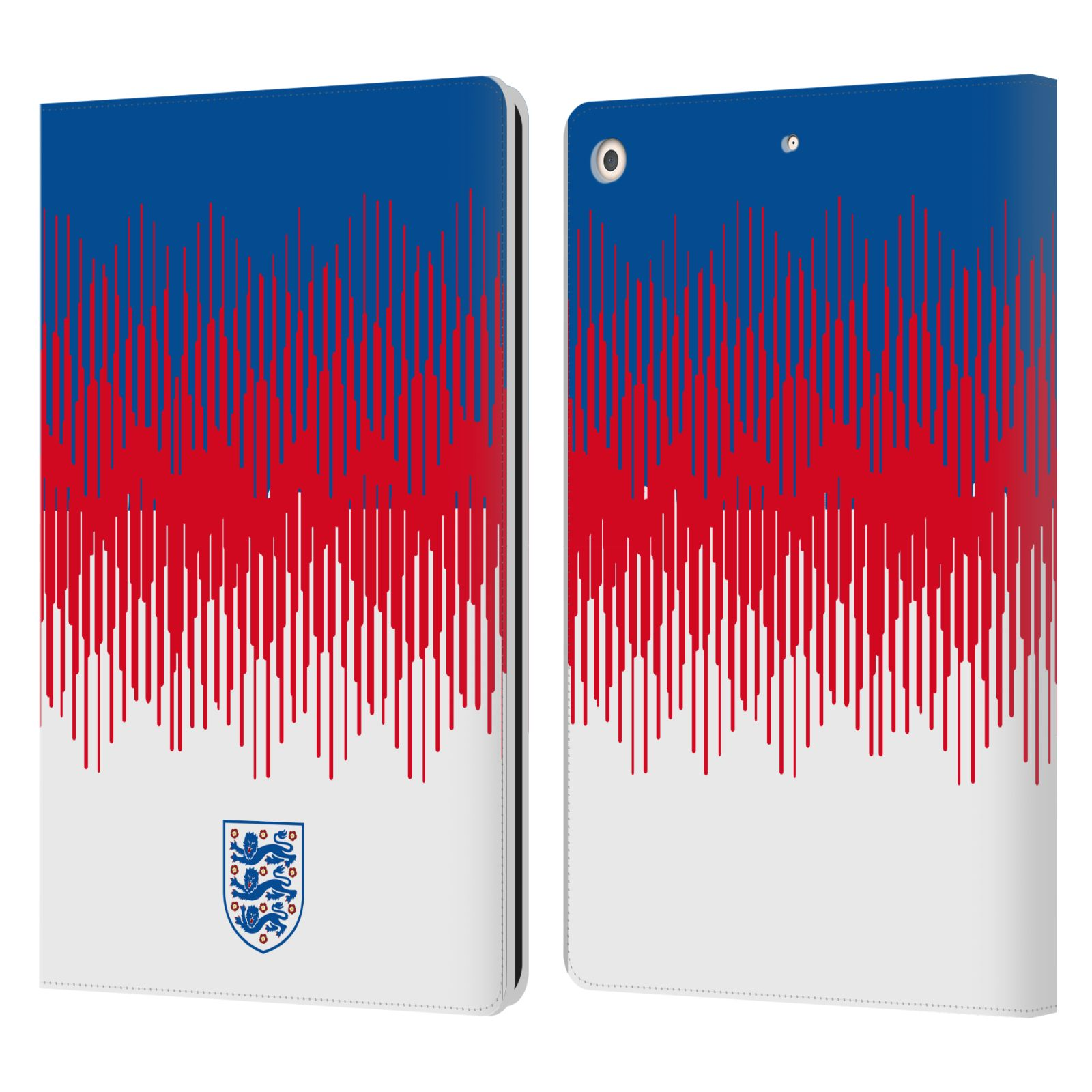 Official England National Football Team 2018/19 Crest Pattern Leather Book Wallet Case For Apple iPad 10.2 (2019)
