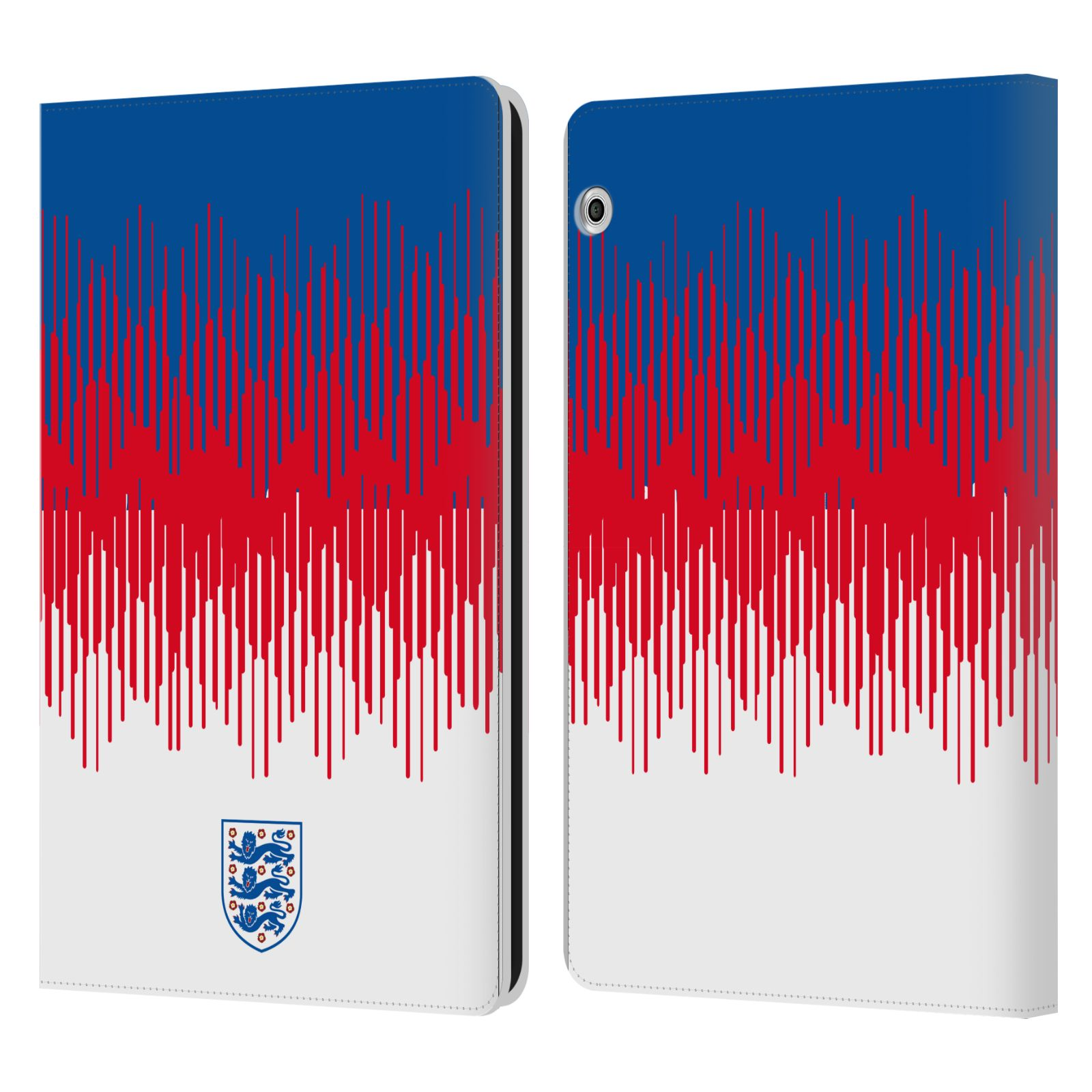 Official England National Football Team 2018/19 Crest Pattern Leather Book Wallet Case For Huawei MediaPad T3 10
