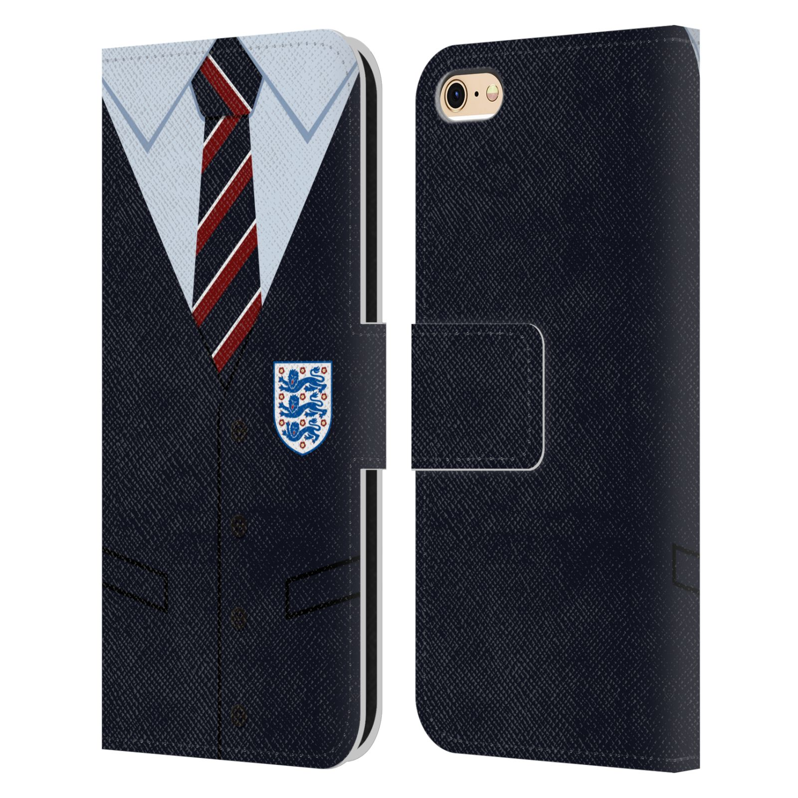 Official England National Football Team 2018/19 Crest Southgate Waistcoat Leather Book Wallet Case For Apple iPhone 6 / iPhone 6s