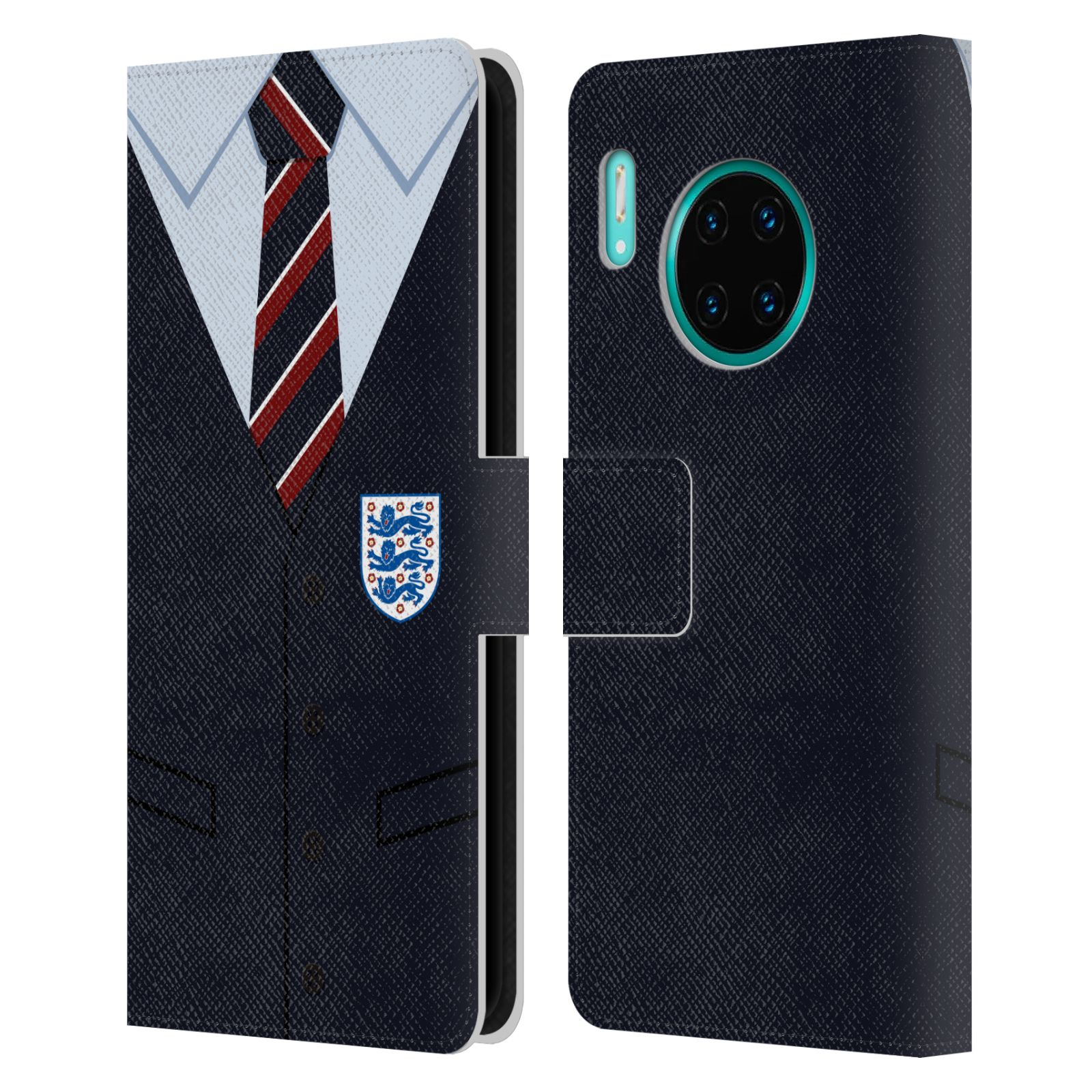 Official England National Football Team 2018/19 Crest Southgate Waistcoat Leather Book Wallet Case For Huawei Mate 30 Pro / 5G