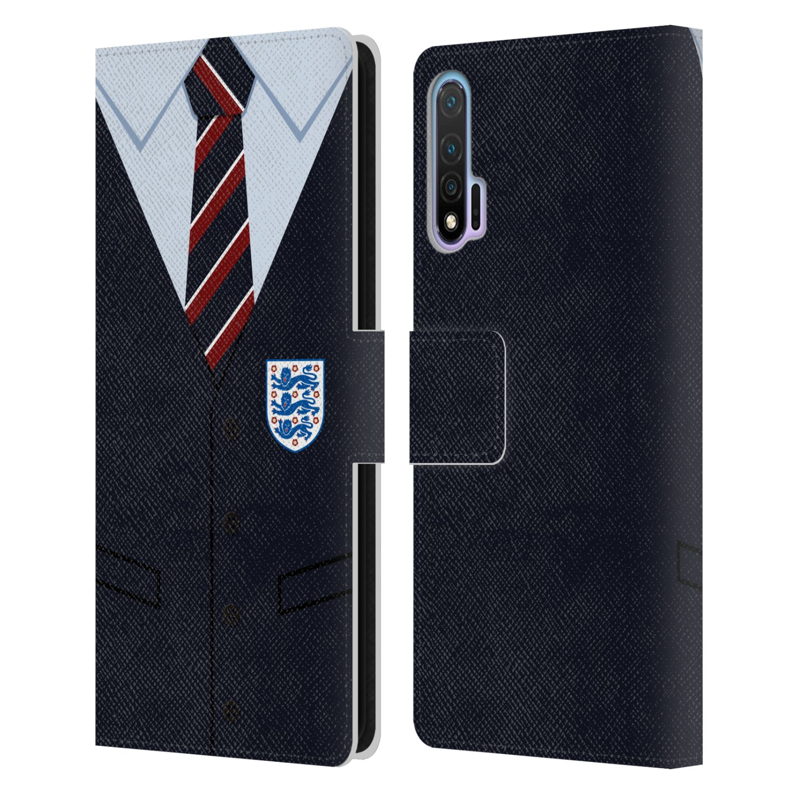 Official England National Football Team 2018/19 Crest Southgate Waistcoat Leather Book Wallet Case For Huawei Nova 6 5G