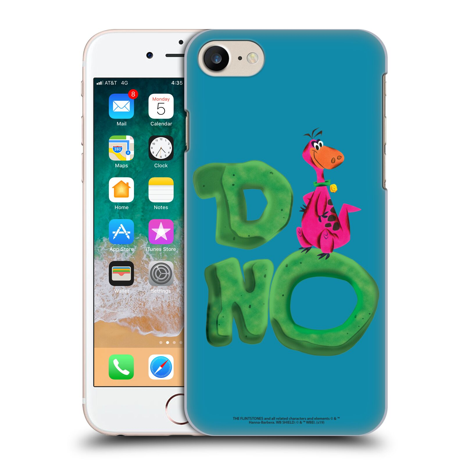 Official The Flintstones Vintage Dino Case for Apple iPhone 7 / 8 / iPhone SE 2020