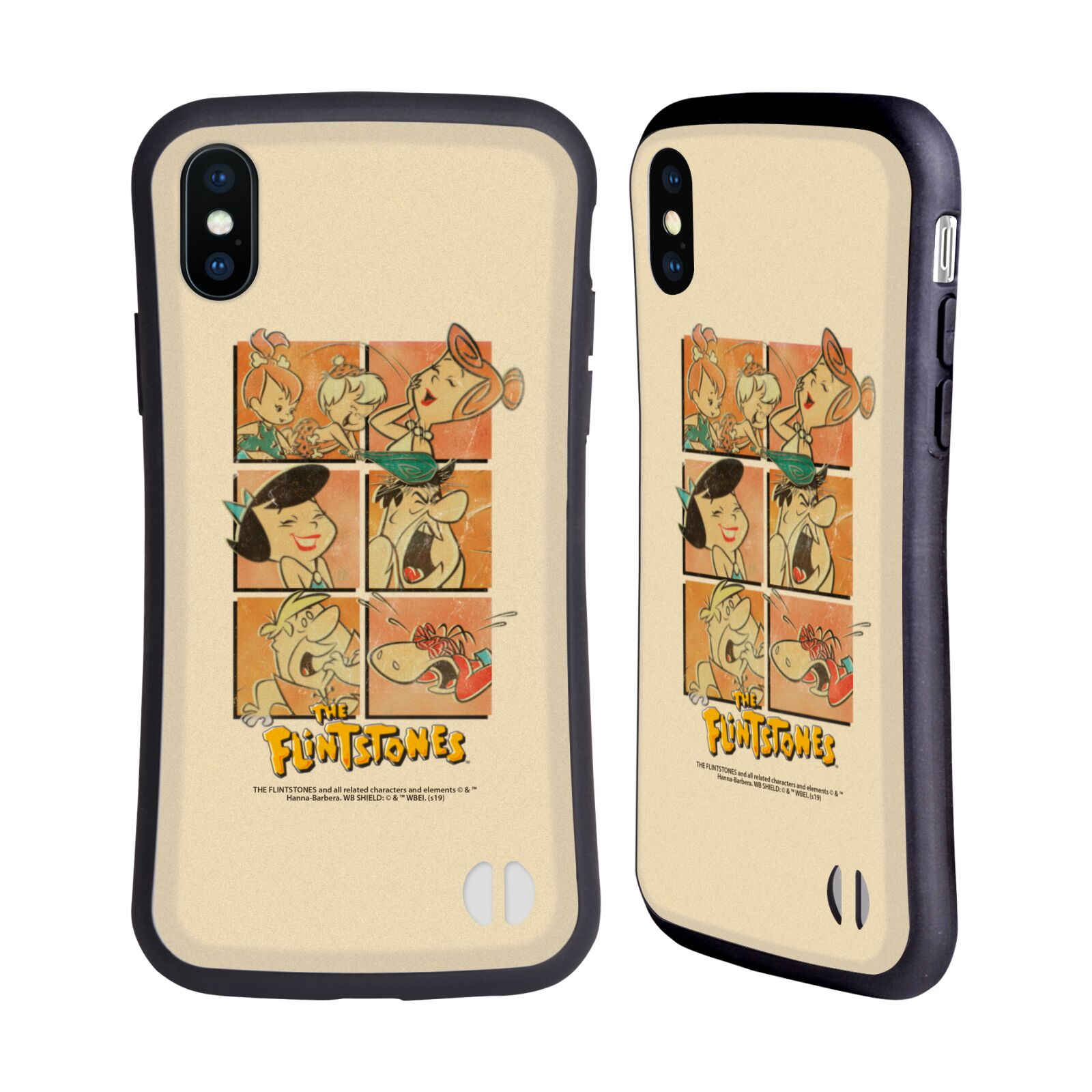 Official The Flintstones Vintage The Gang Hybrid Case for Apple iPhone X / iPhone XS