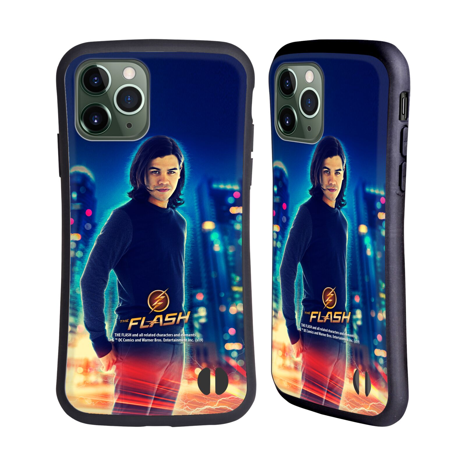 Official The Flash TV Series Character Art Cisco Ramon Hybrid Case for Apple iPhone 11 Pro