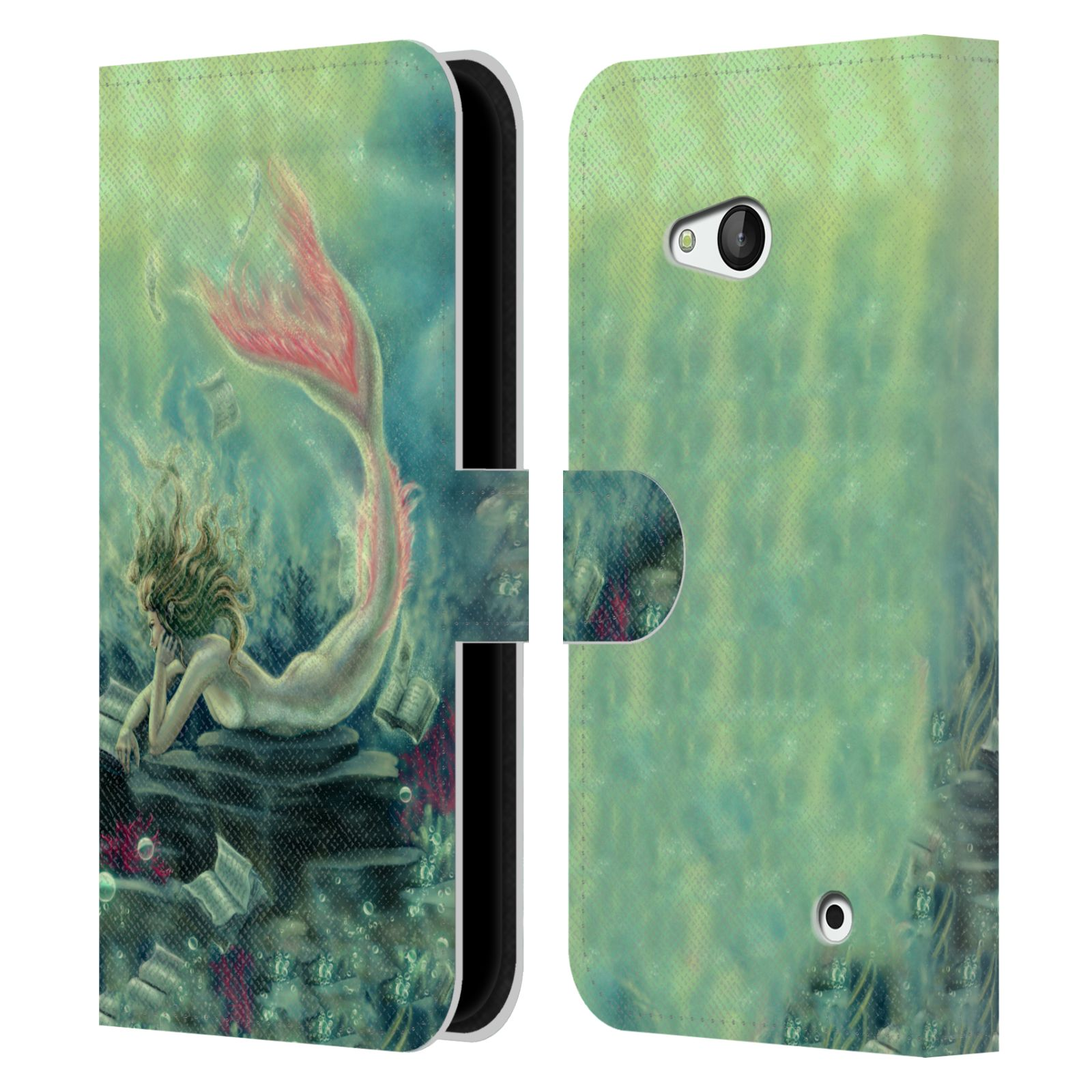 TIFFANY-TOLAND-SCOTT-MERMAIDS-LEATHER-BOOK-CASE-FOR-MICROSOFT-NOKIA-PHONES